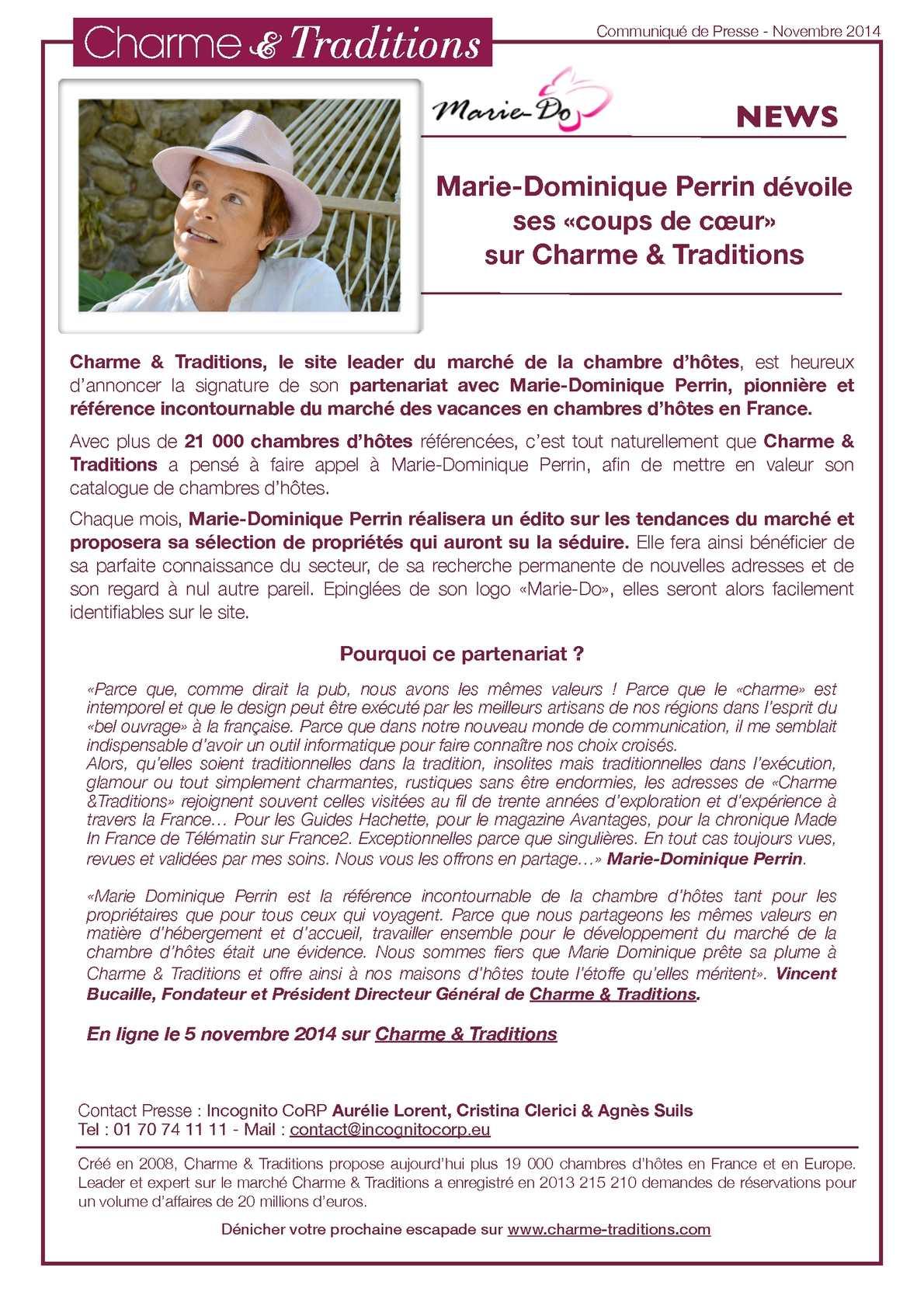 Calaméo   Charme U0026 Traditions   Partenariat Marie Dominique Perrin