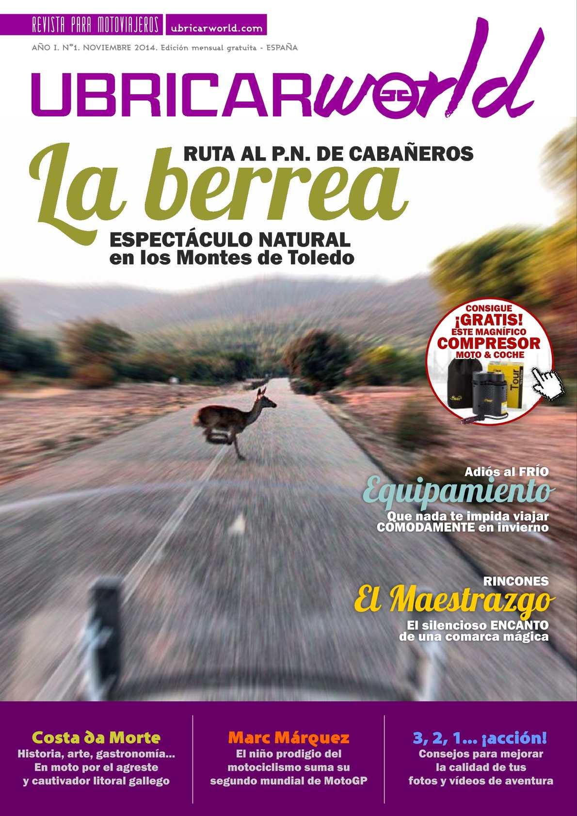 Nº1 REVISTA PARA MOTOVIAJEROS - Noviembre 2014