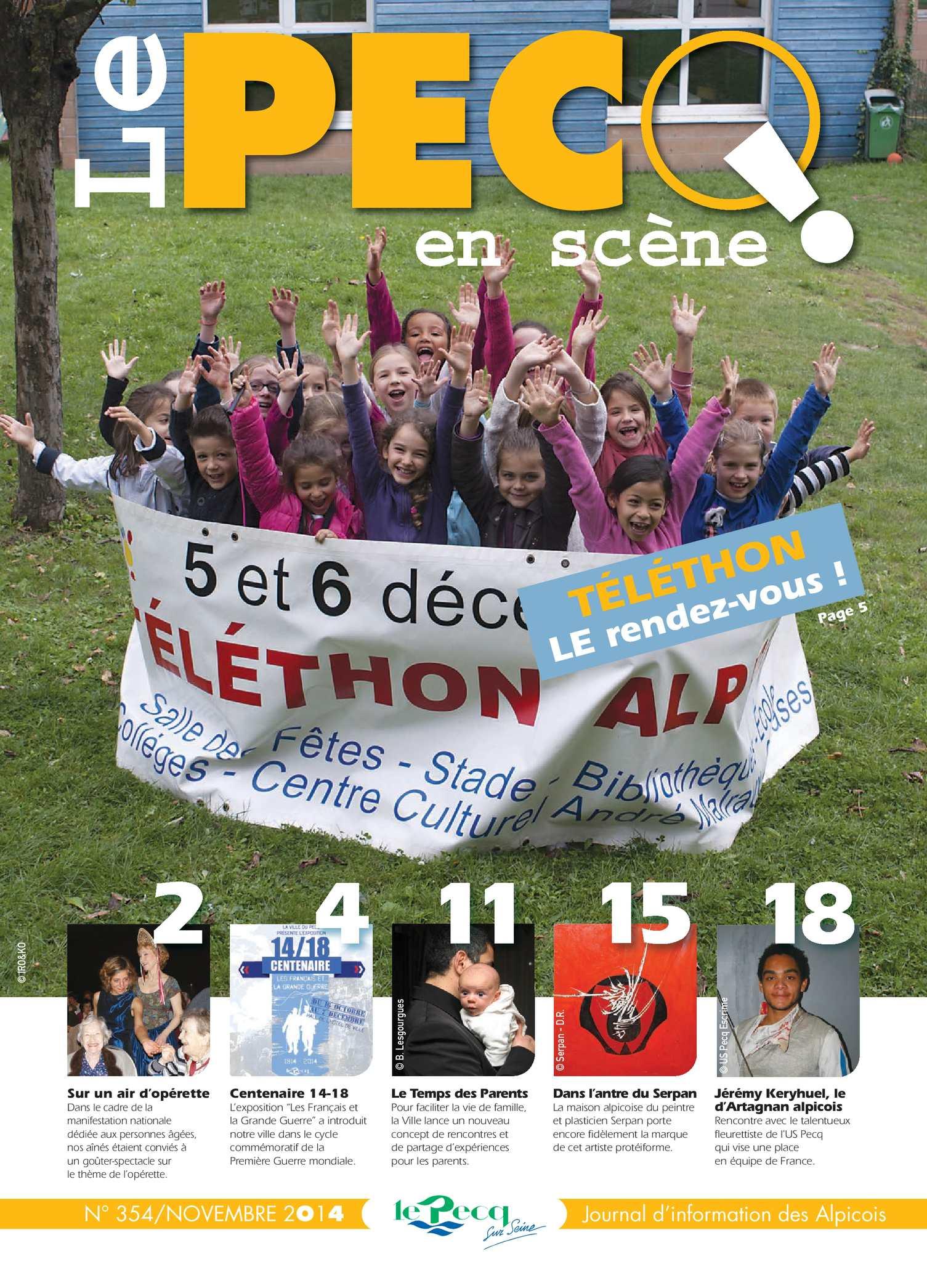 Calaméo - Le Pecq en Scène n°354 - novembre 2014