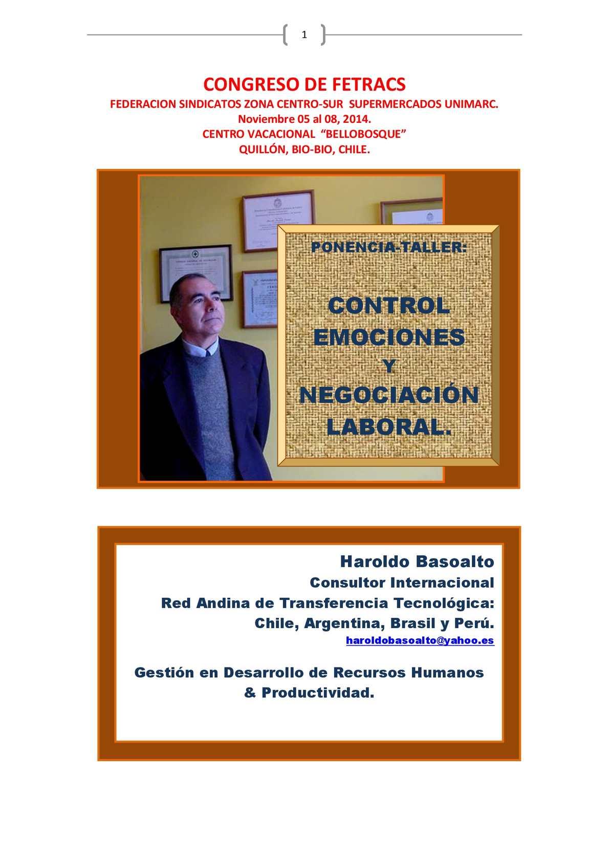 Calaméo - Ponencia Taller Control De Emociones Y Negociación Laboral