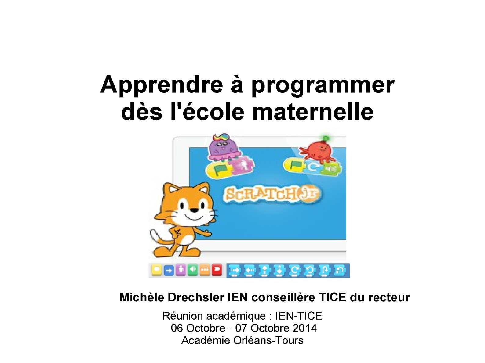 Réunion académique des IEN-TICE - Présentation Scratch.fr et Scratch
