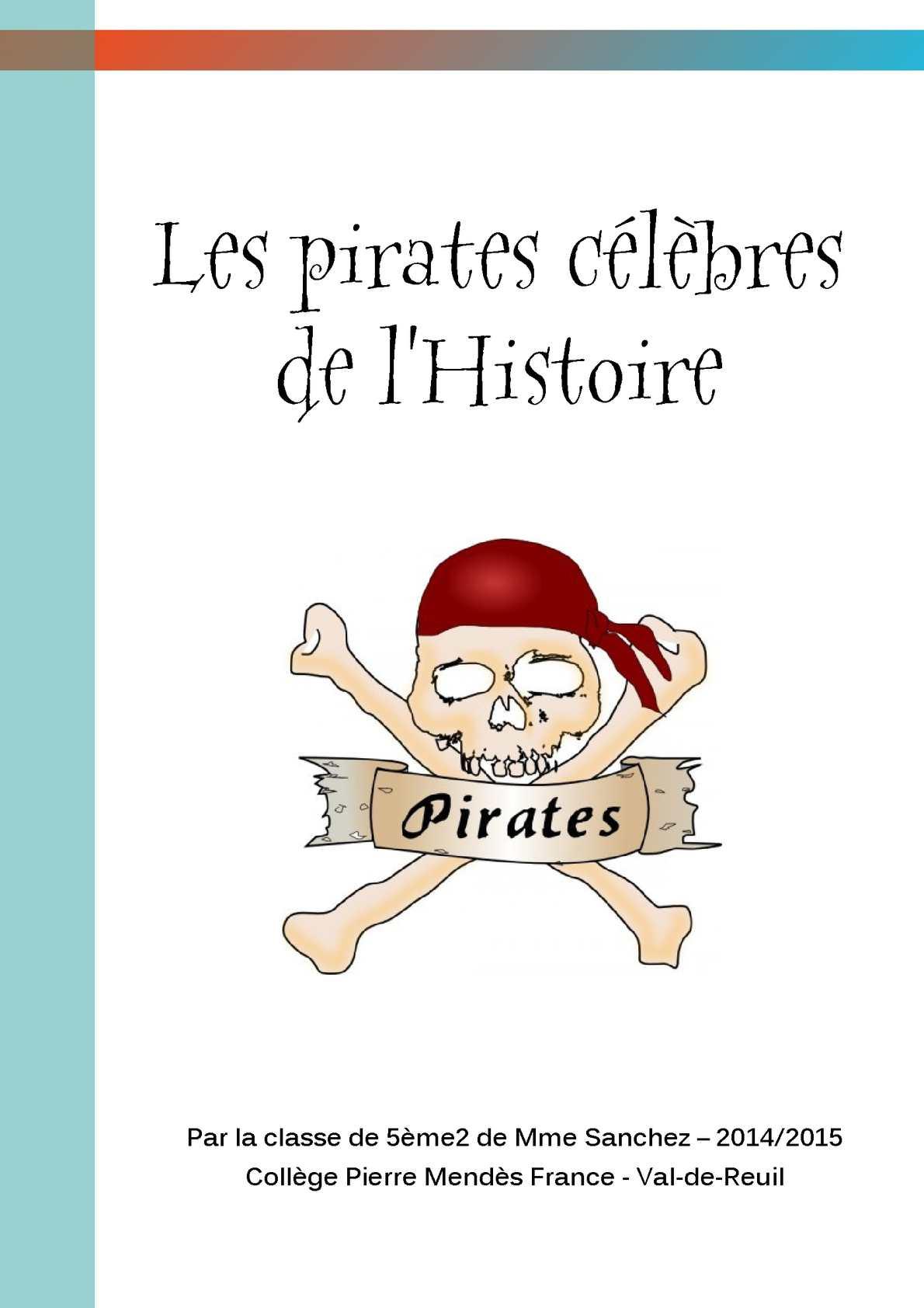 Les pirates célèbres