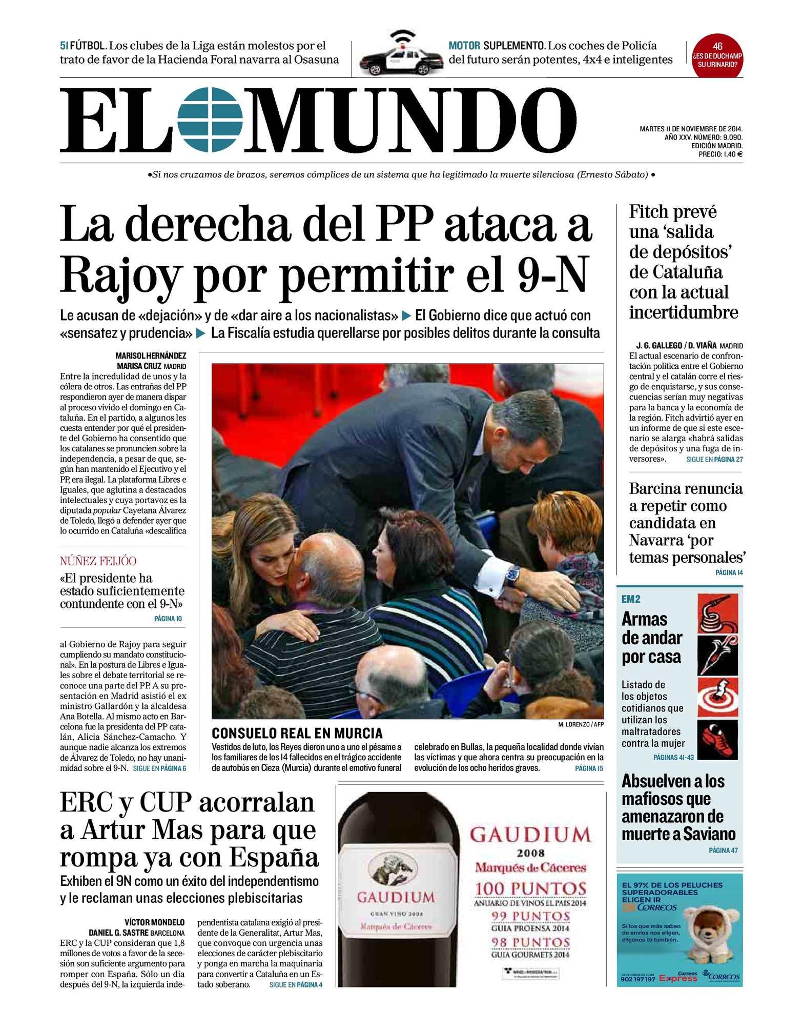00fa9e87b Calaméo - EL MUNDO 11 Noviembre 2014