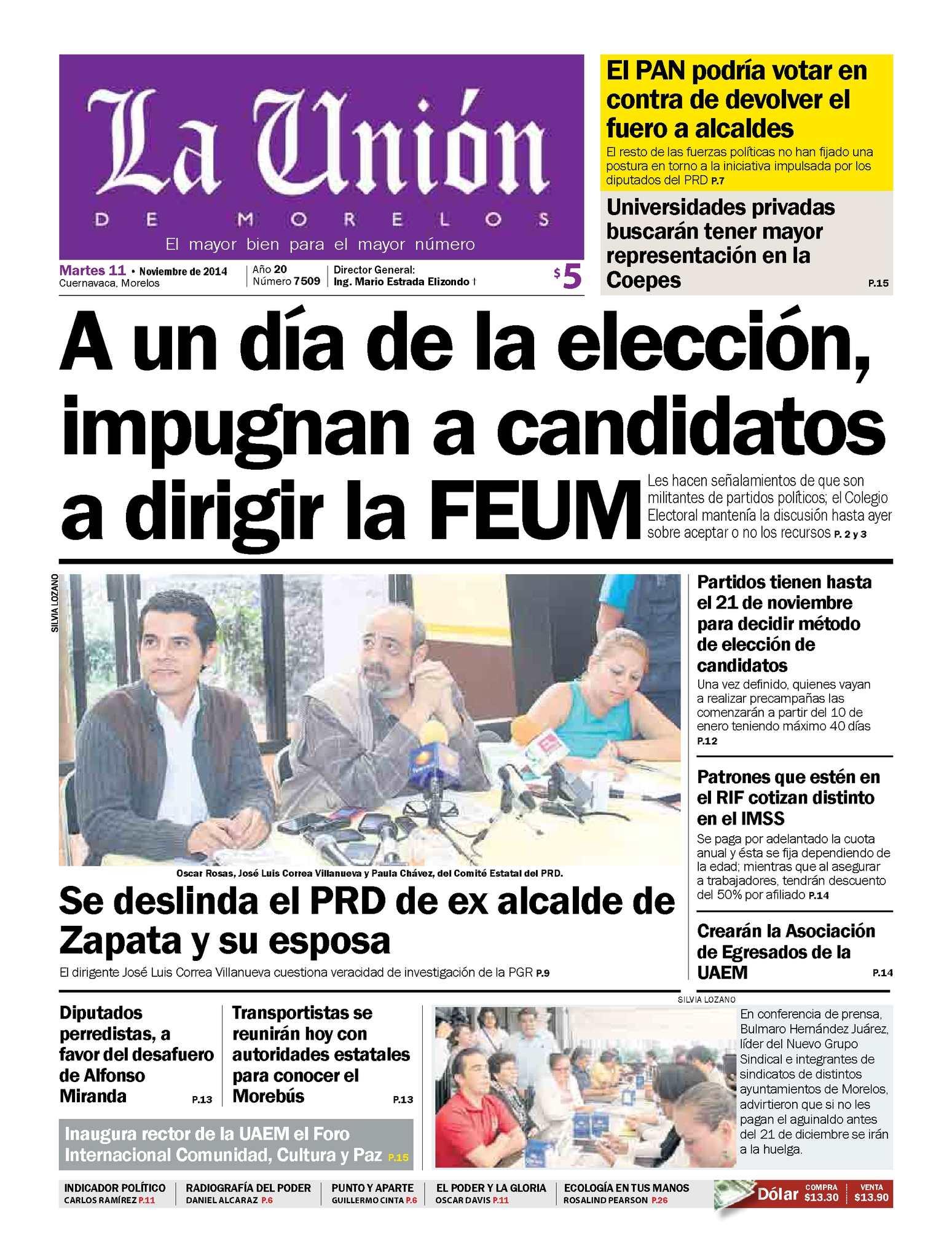 Calaméo - La Unión de Morelos 11 Noviembre 2014