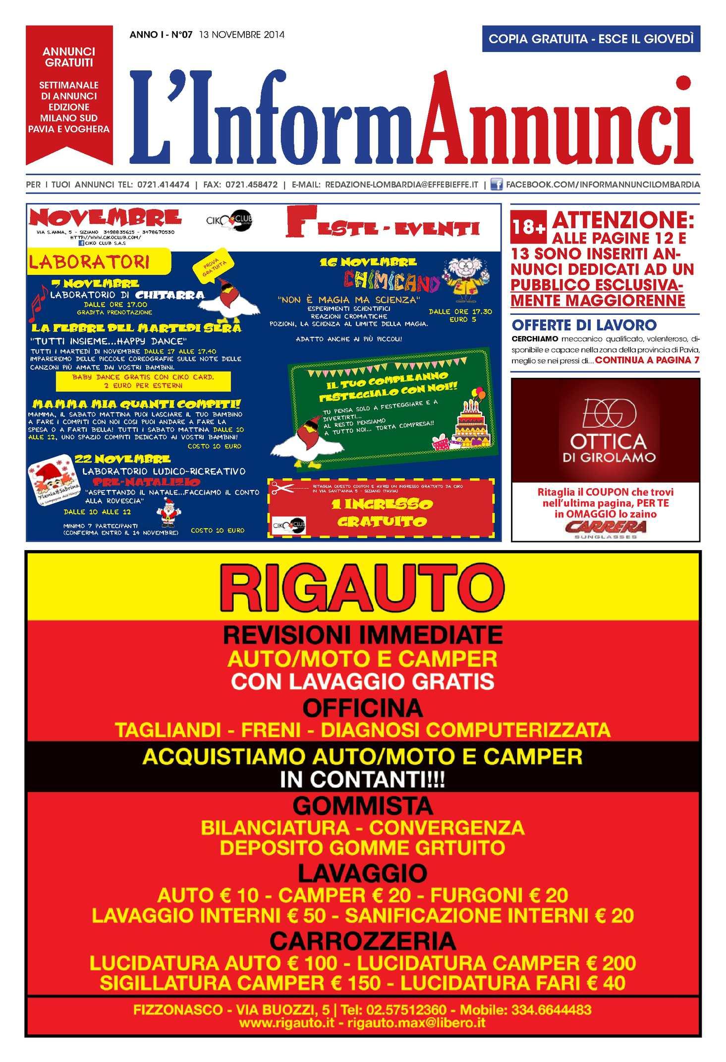 calaméo - l'informannunci n.7 del 13/11/2014 - Bel Divano In Pelle Posteriore Con Sedili Imbottiti Armi