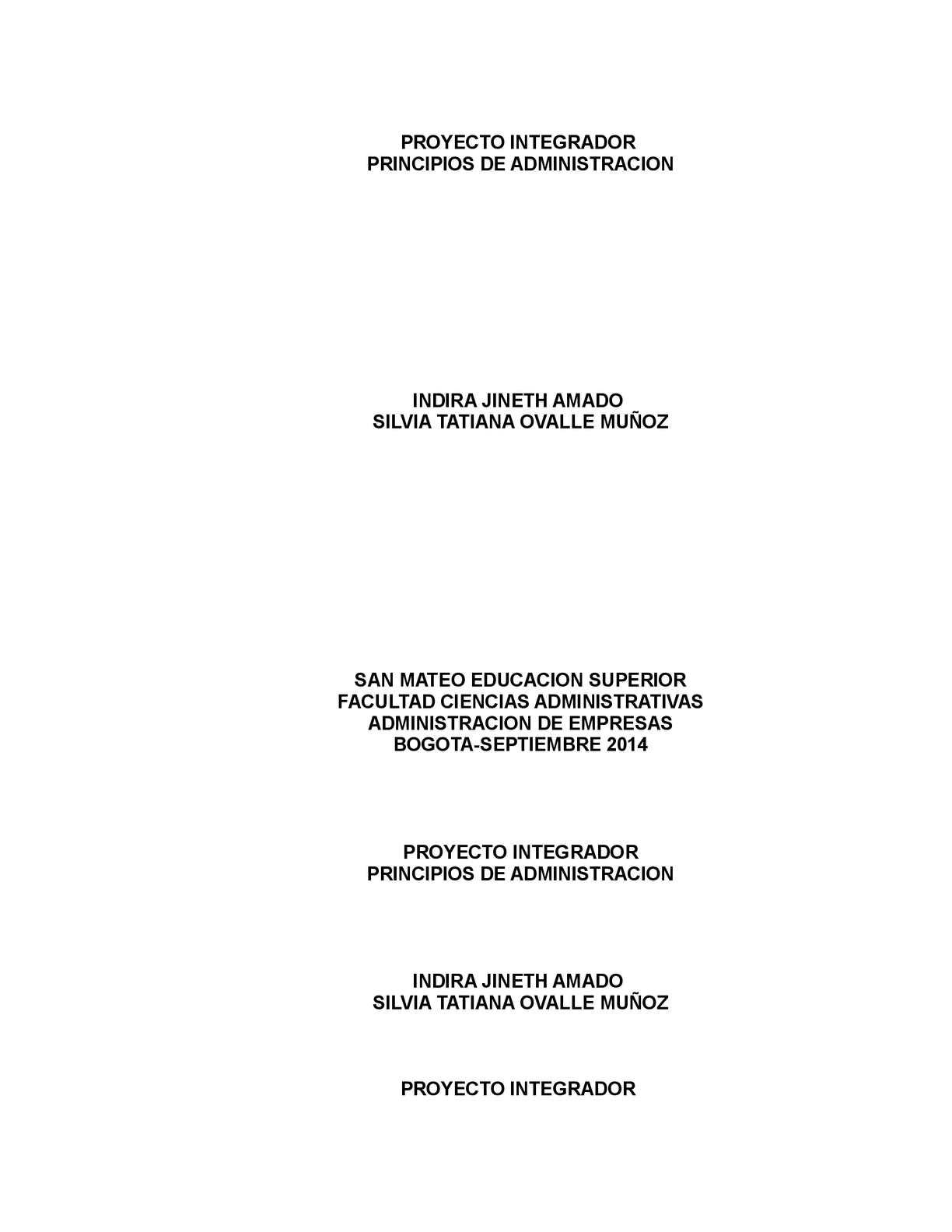 Calaméo - Proyecto Integrador Administracion Docx Edicion