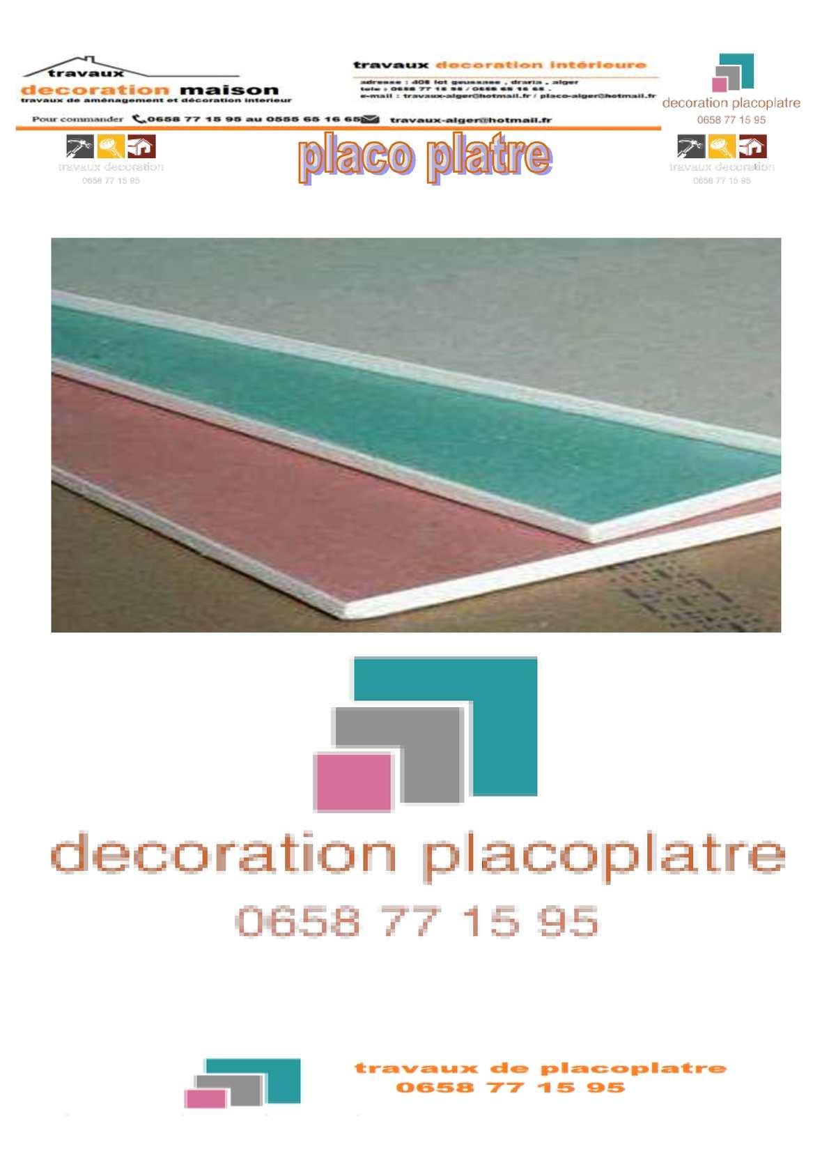 Plaque De Platre Ba10 en ce qui concerne calaméo - placo platre (ba13) algerie
