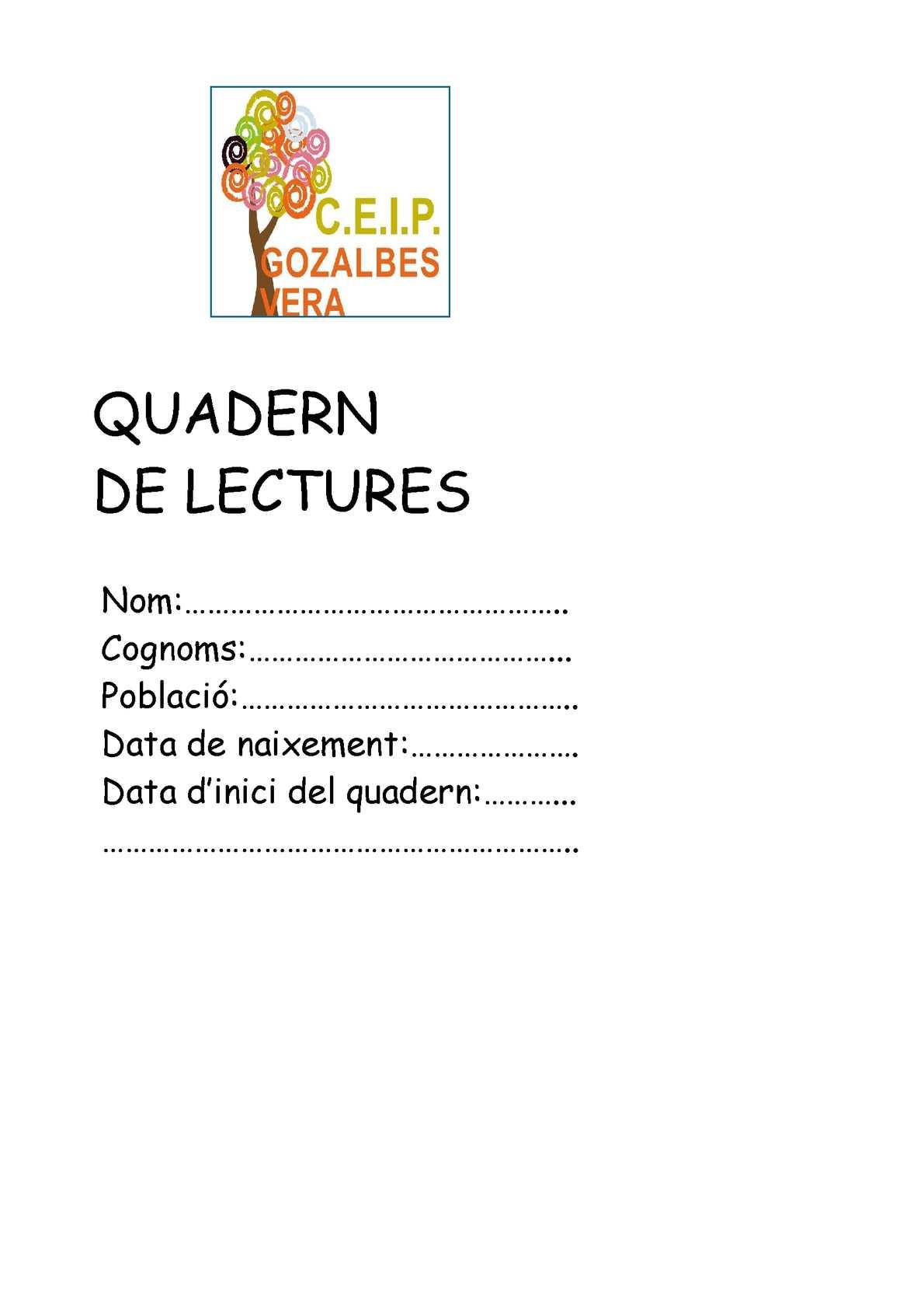 Quadern de lectures