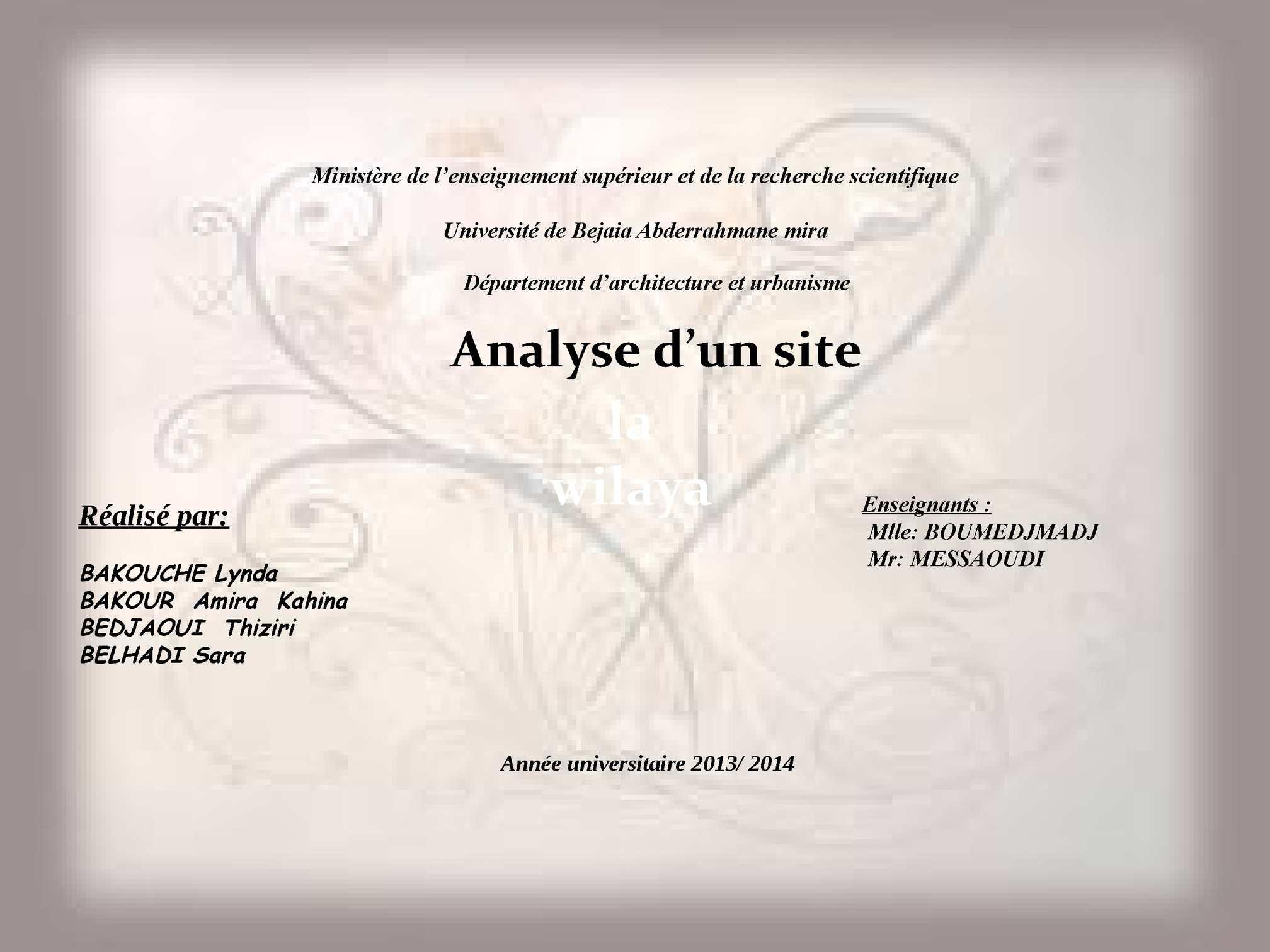 Analyse site de rencontre