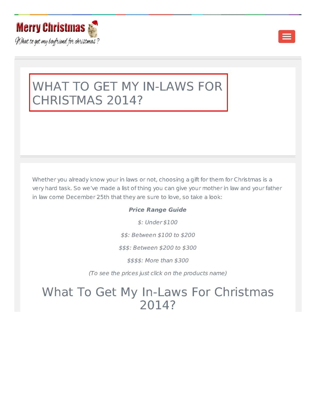 calamo what to get my in laws for christmas 2014 - What To Get Father In Law For Christmas