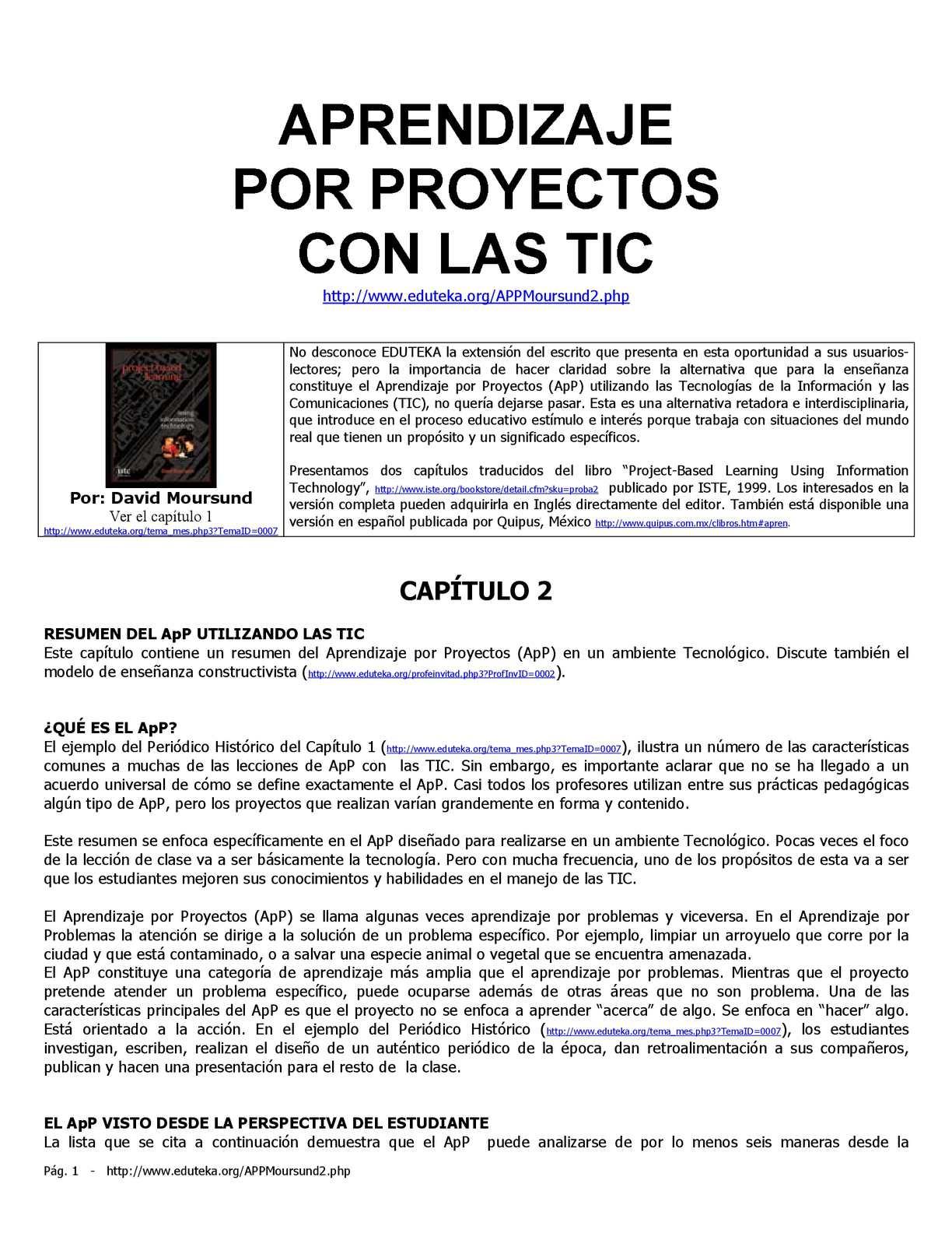 Calaméo - Enseñanza basada en proyectos