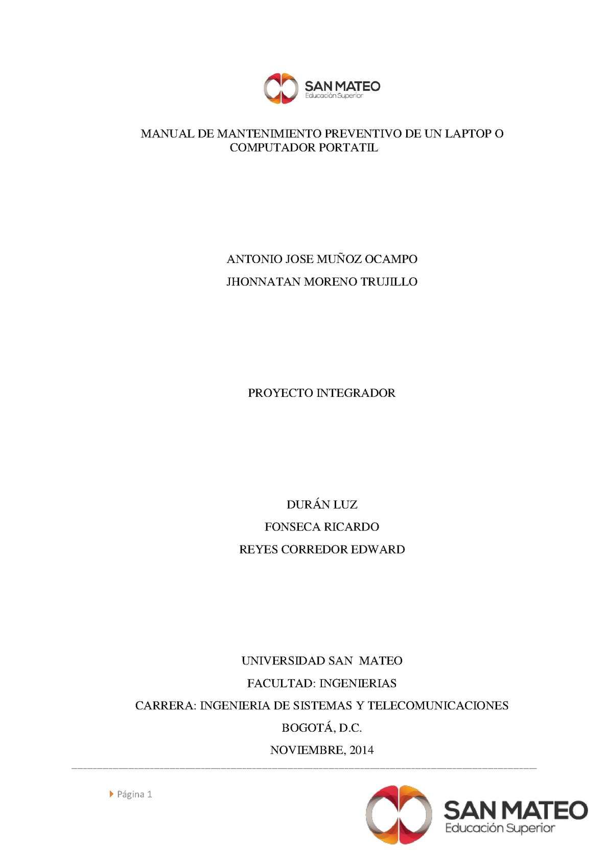 manual de mantenimiento preventivo de un laptop calameo downloader rh calameo download manual de mantenimiento preventivo y correctivo manual de mantenimiento preventivo para plc