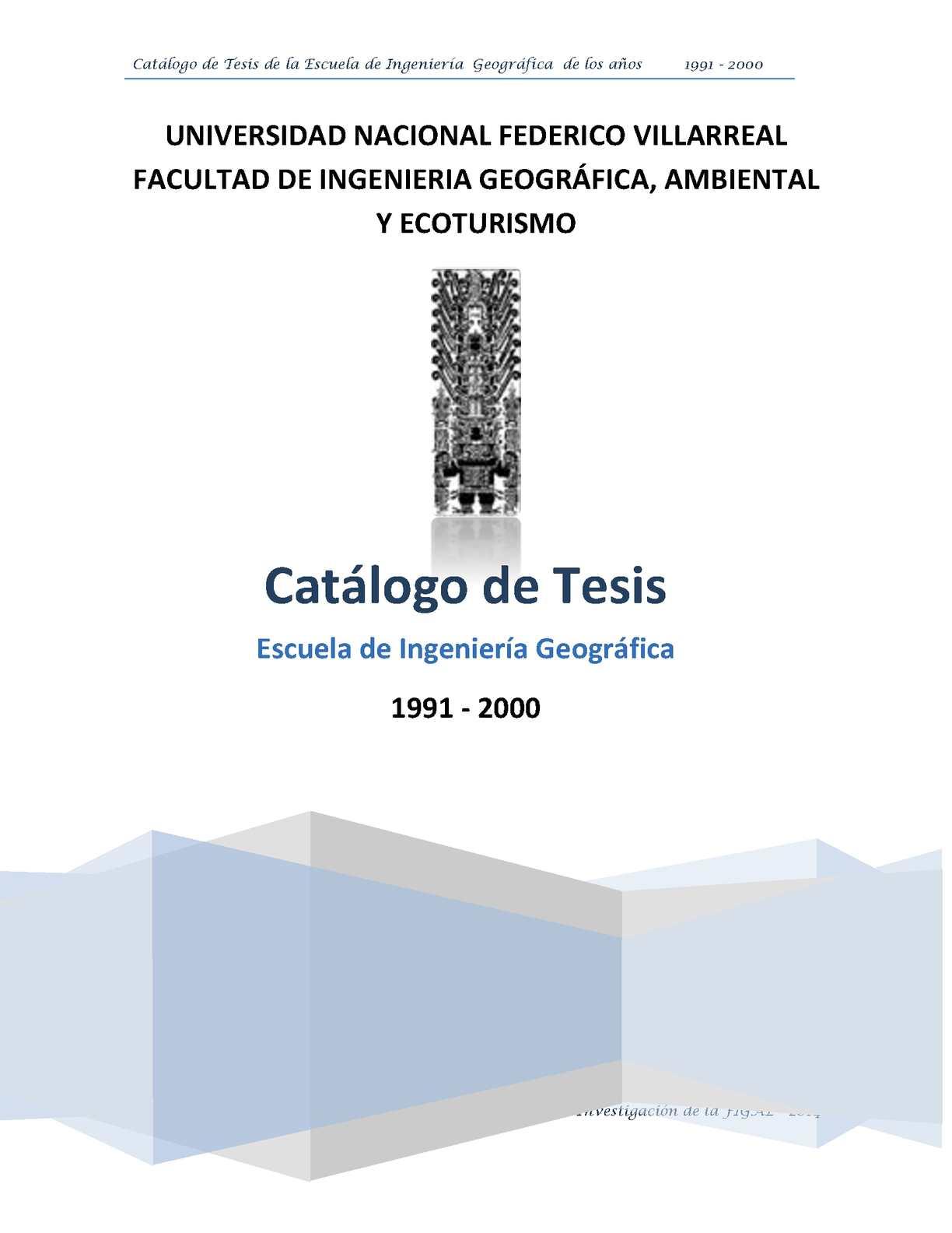 Tomo II Catálogo de Tesis 1991 2000 Ing. Geografica