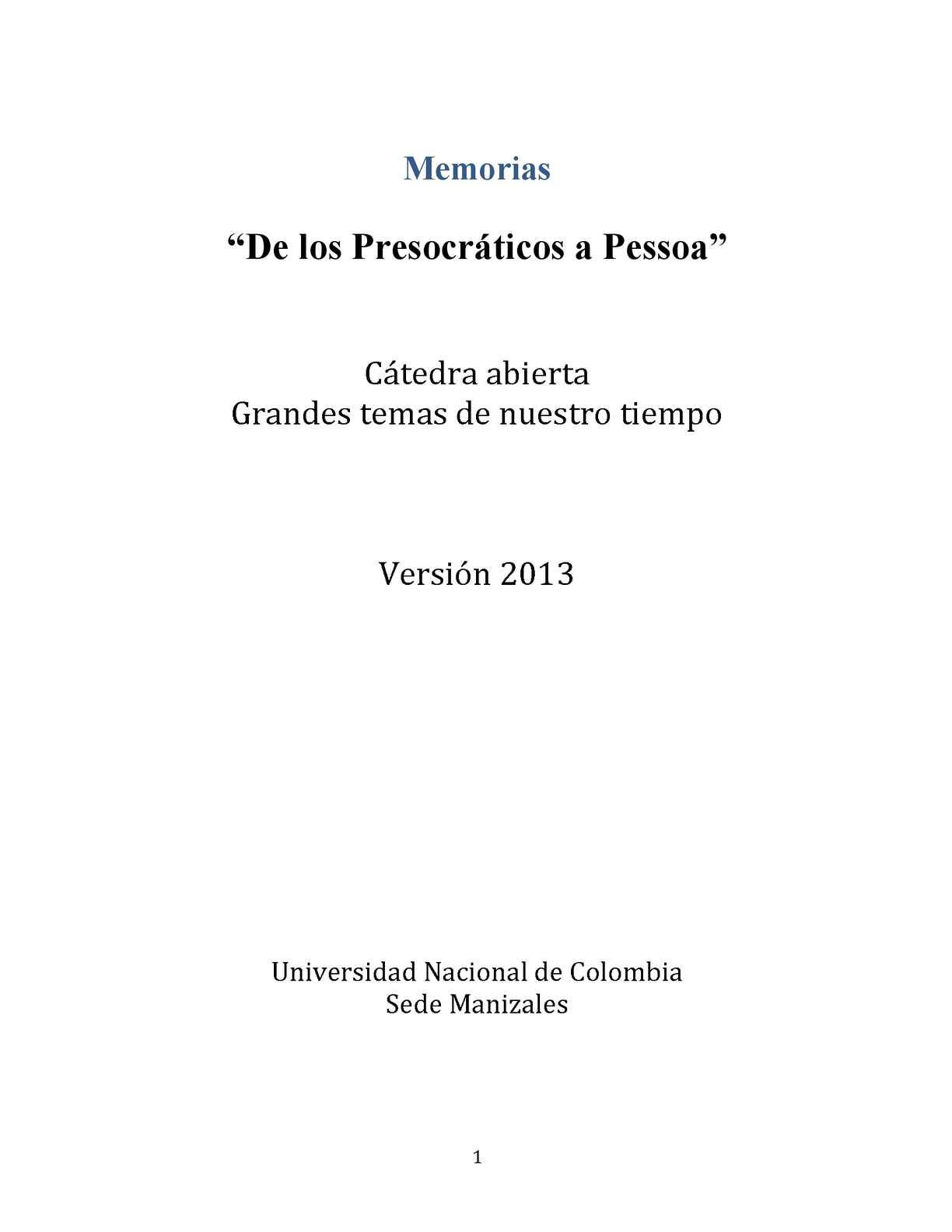 Calaméo - Cátedra abierta Grandes temas de nuestro tiempo. Versión 2013