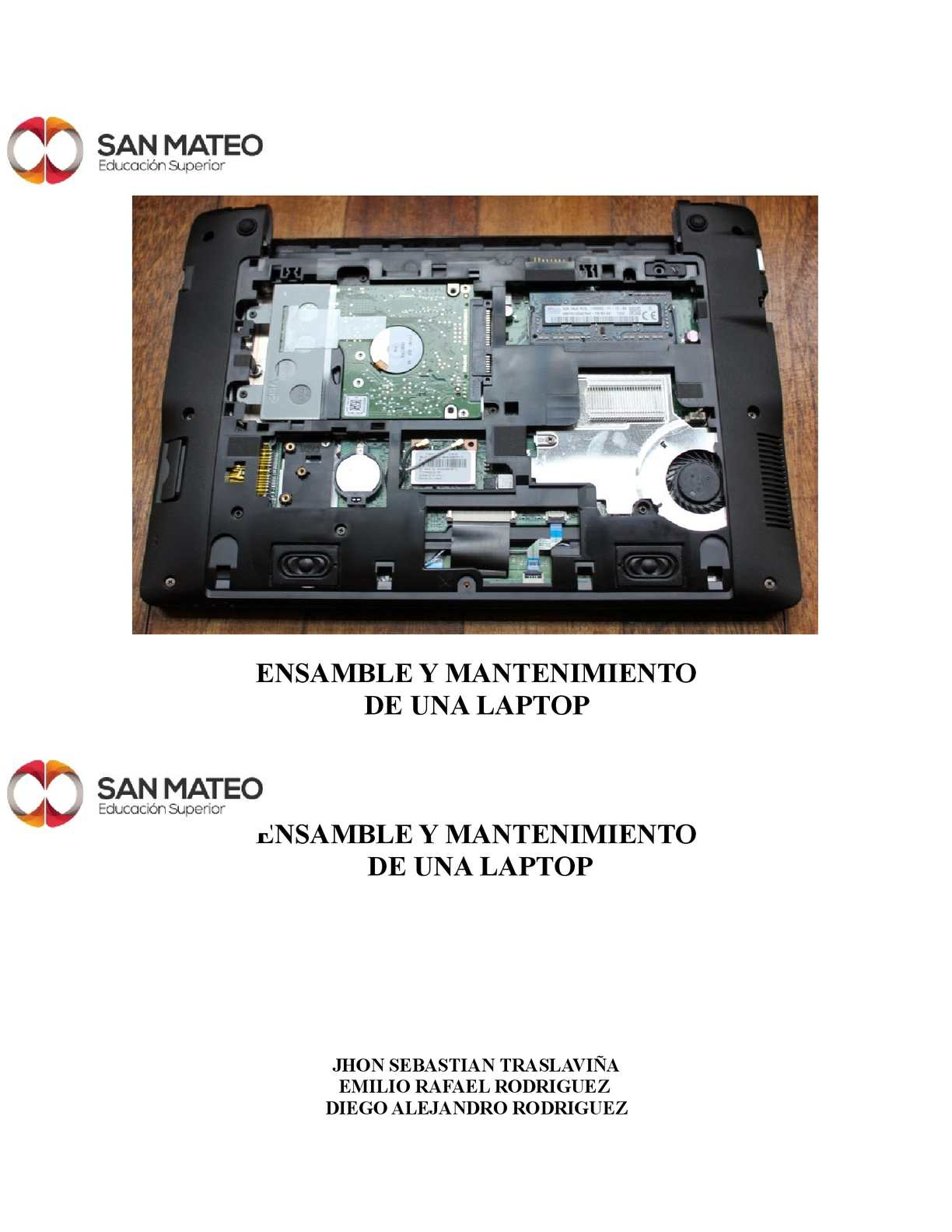 Ensamble Y Mantenimiento De Laptop