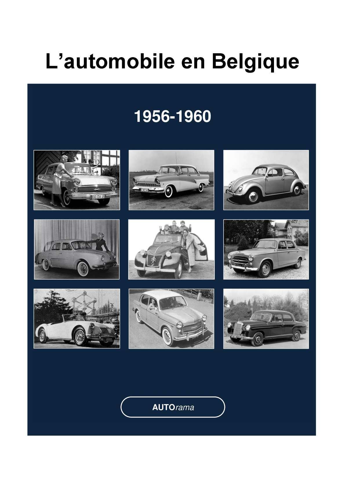 Calam o l 39 automobile en belgique 1956 1960 - Garage automobile en belgique ...