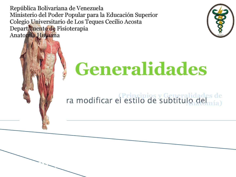 Calaméo - Generalidades De Anatomia