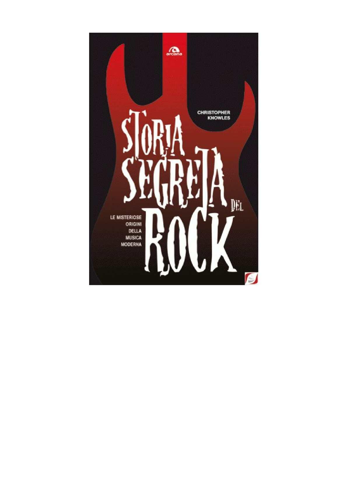 Christopher Knowles Storia Segreta Del Rock
