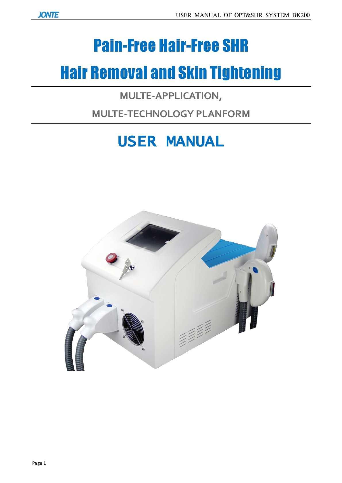 BK200 User Manual -JONTE LASER