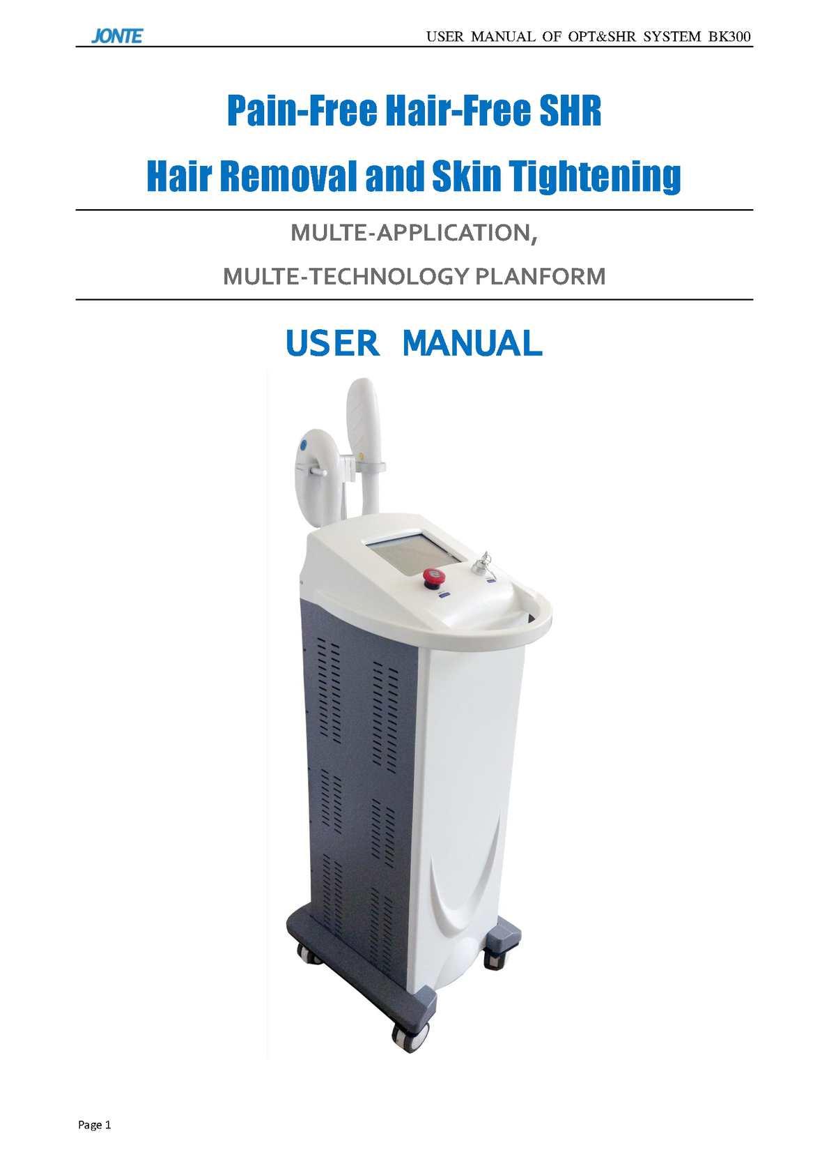 BK300 User Manual JONTE LASER