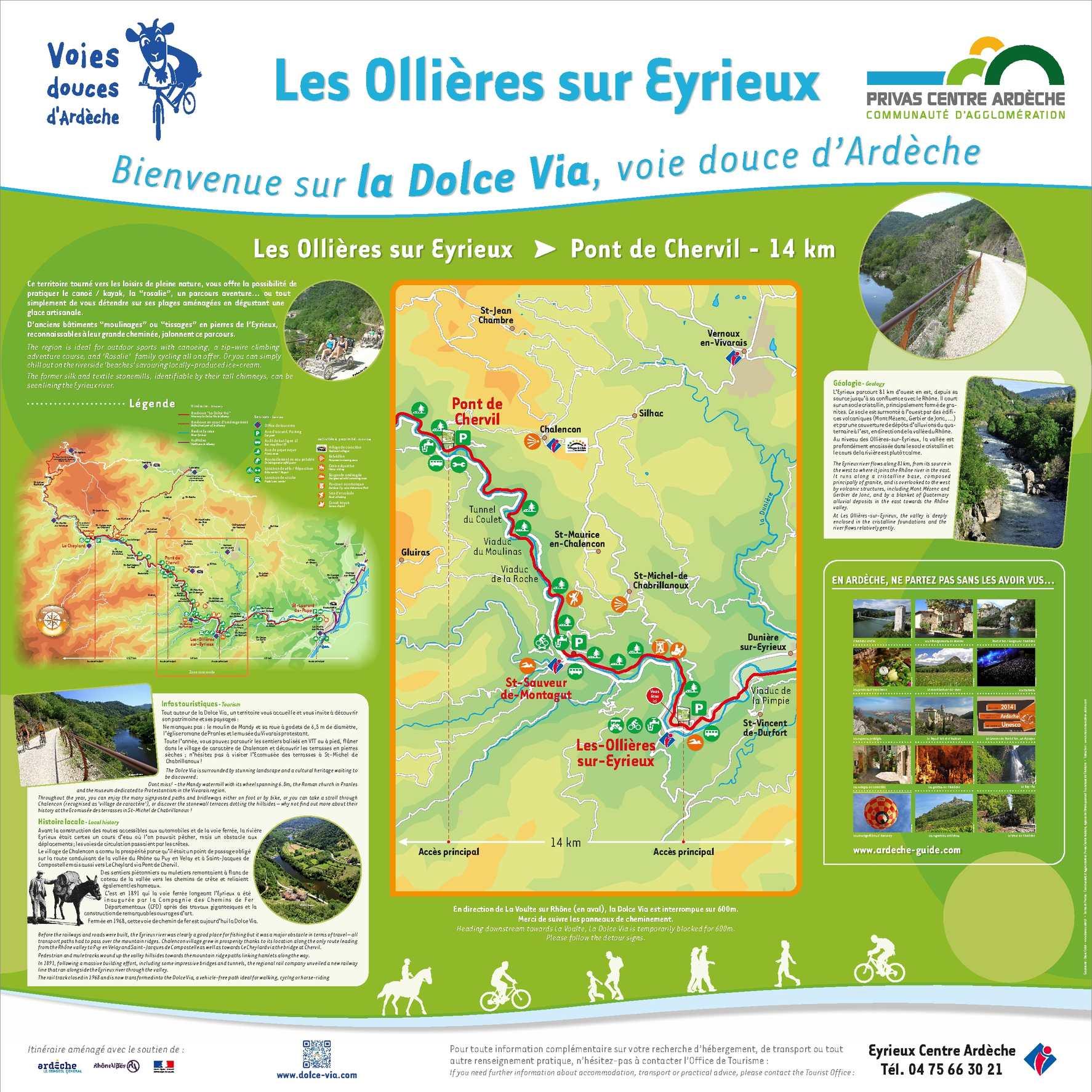 Calam o dolce via panneau ris les ollieres sur eyrieux - Saint sauveur de montagut office du tourisme ...