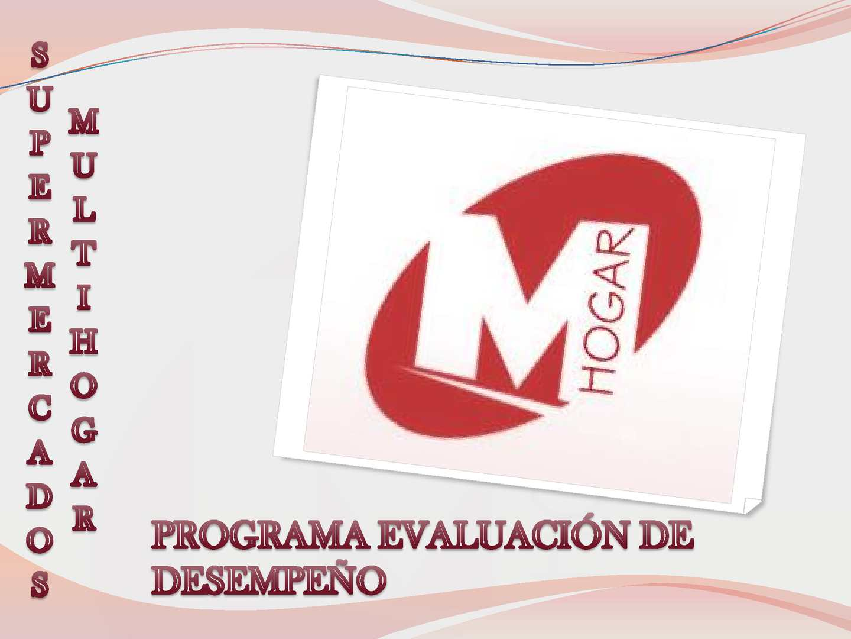 Programa evaluación de desempeño