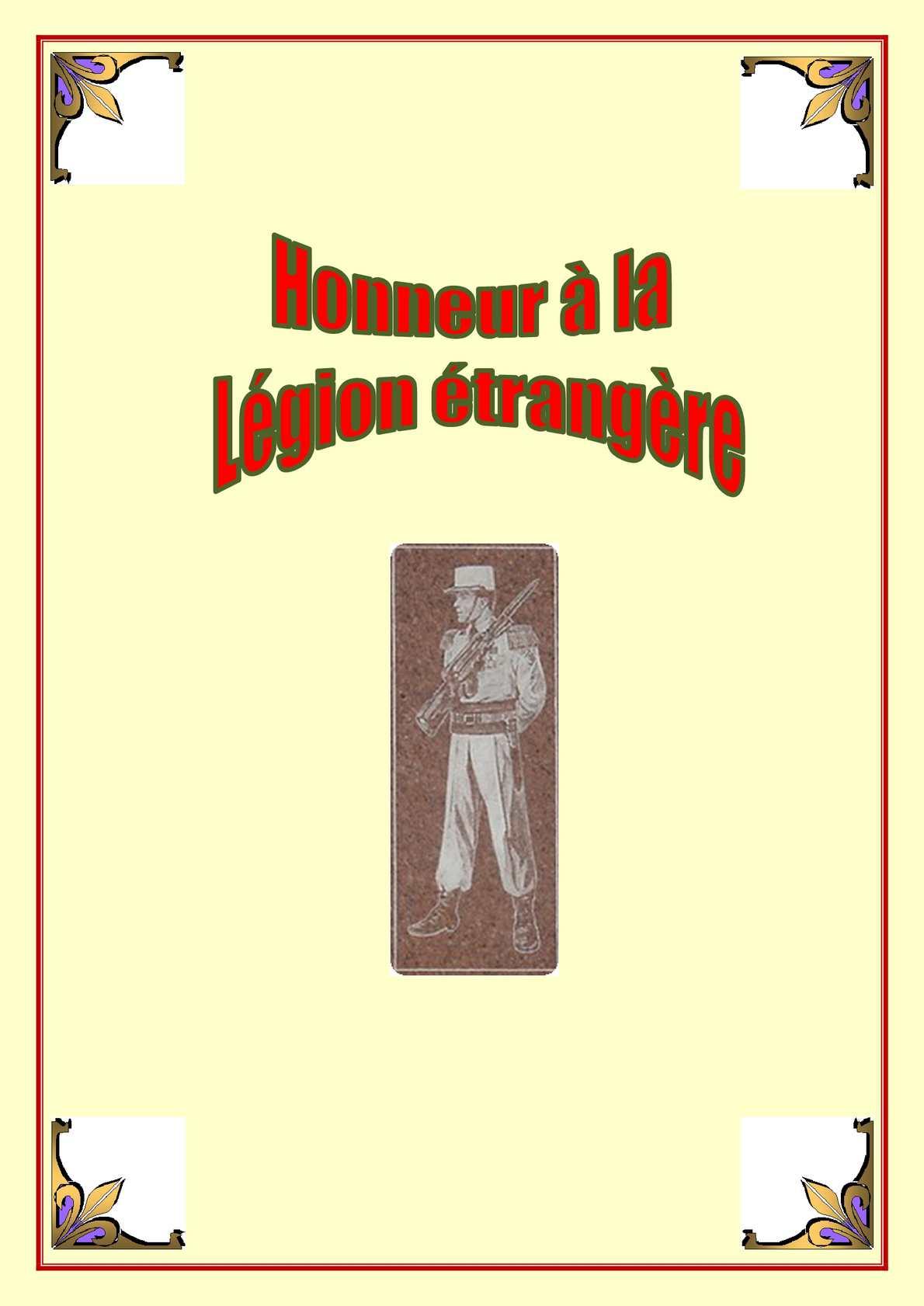 Honneur À La Légion ÉTrangère