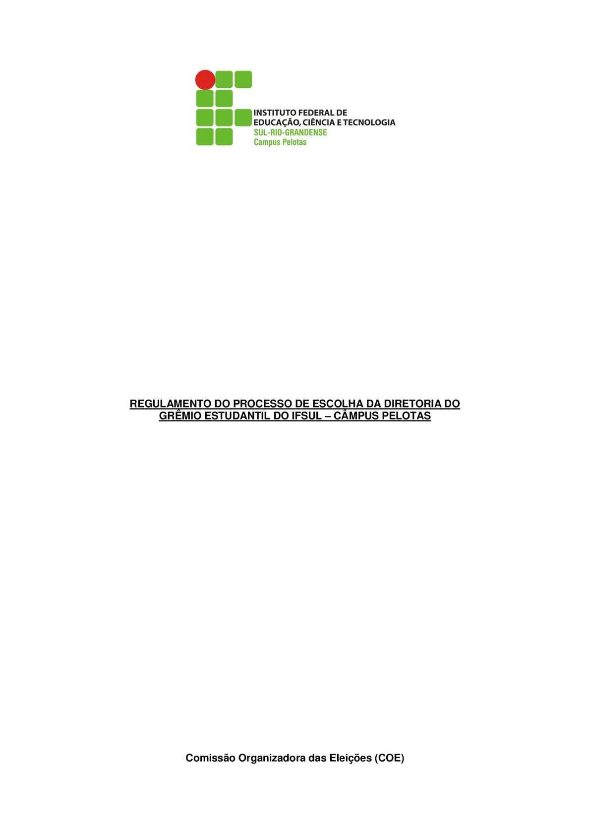 Regulamento Eleições Grêmio Estudantil 2014