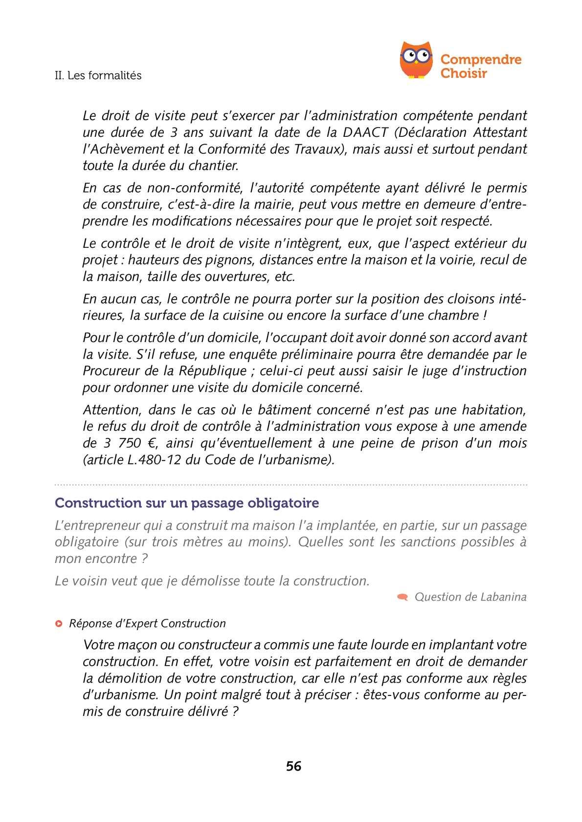déclaration de travaux sur droit de passage
