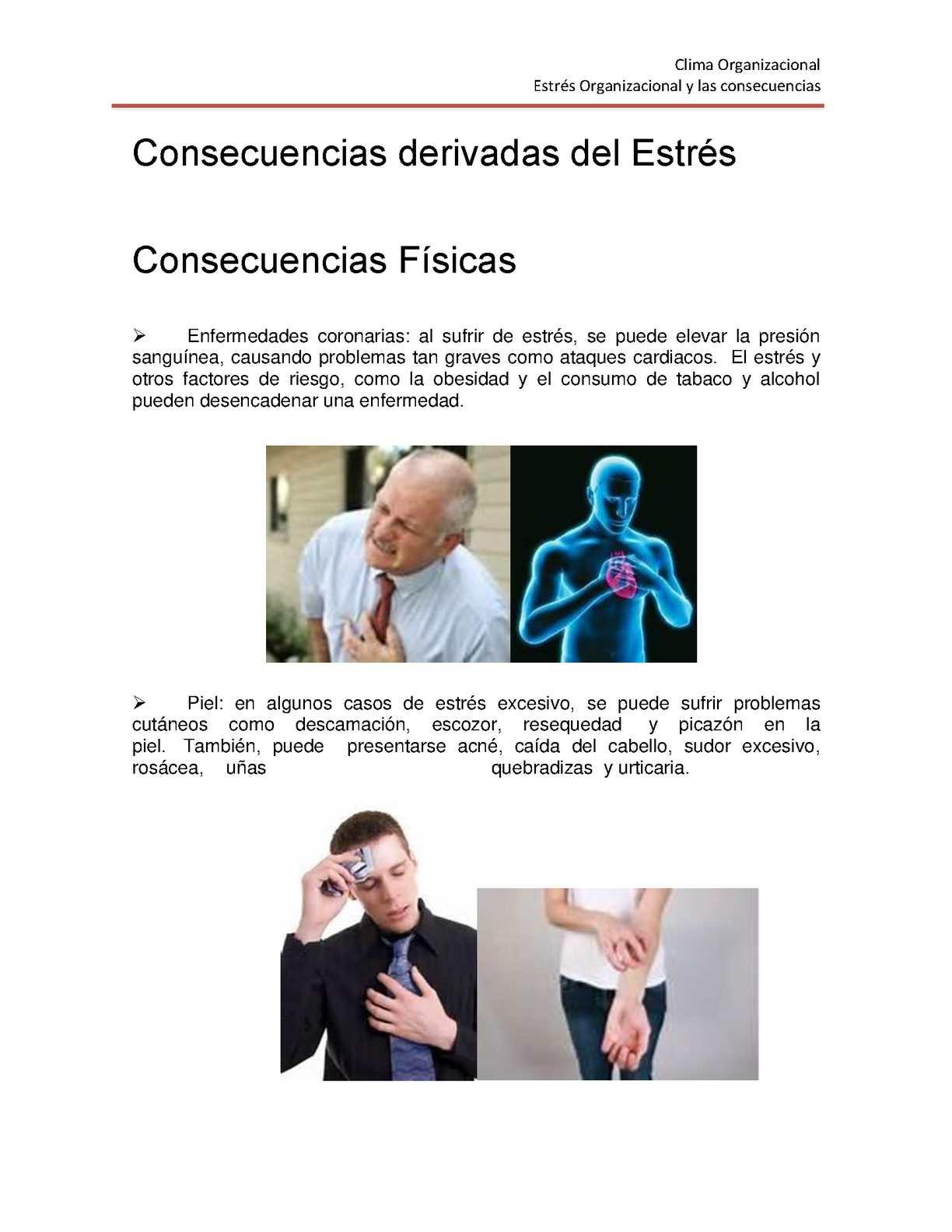 Estrés Consecuencias Fisicas Y Psicologicas