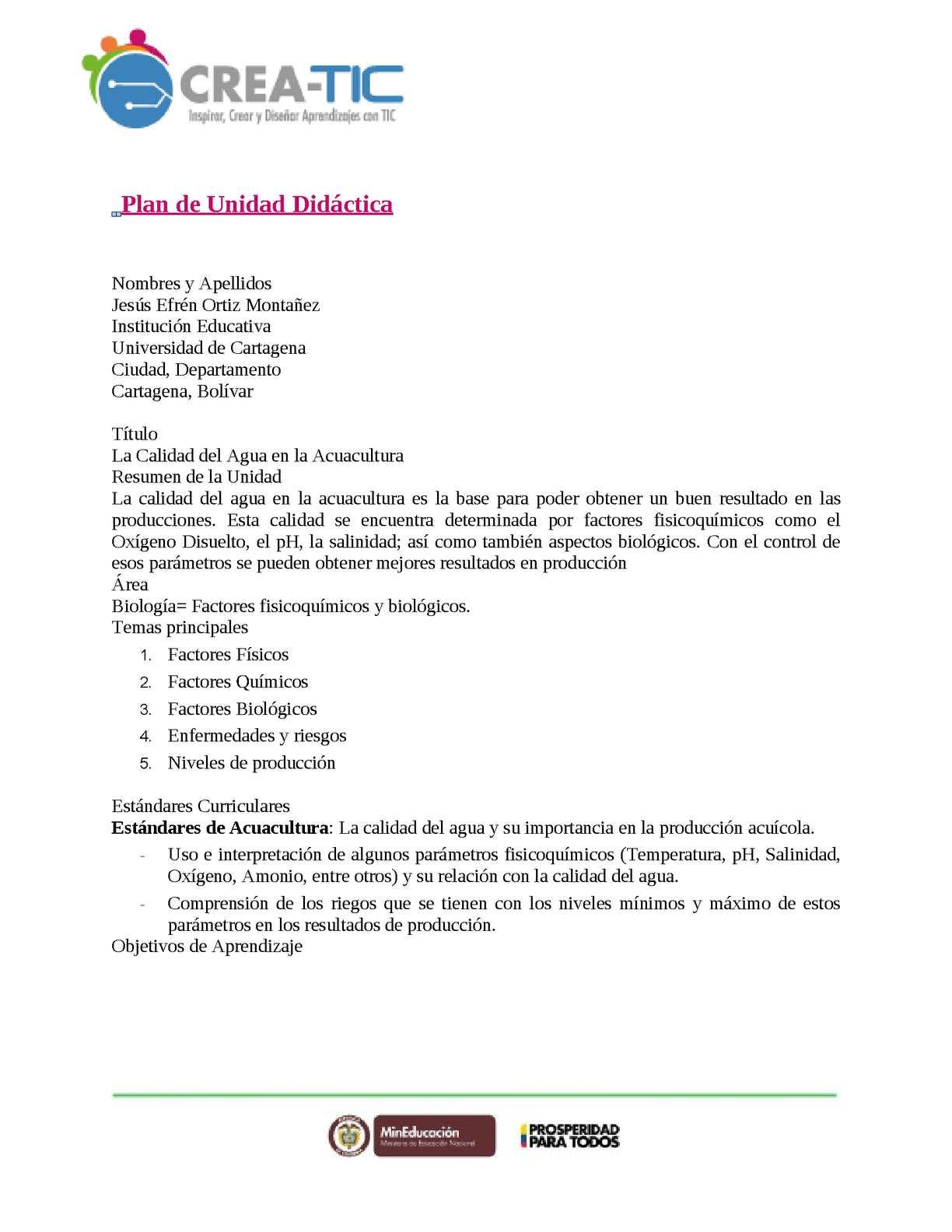 Calaméo - Plantilla Unidad Didáctica Jesus Ortiz
