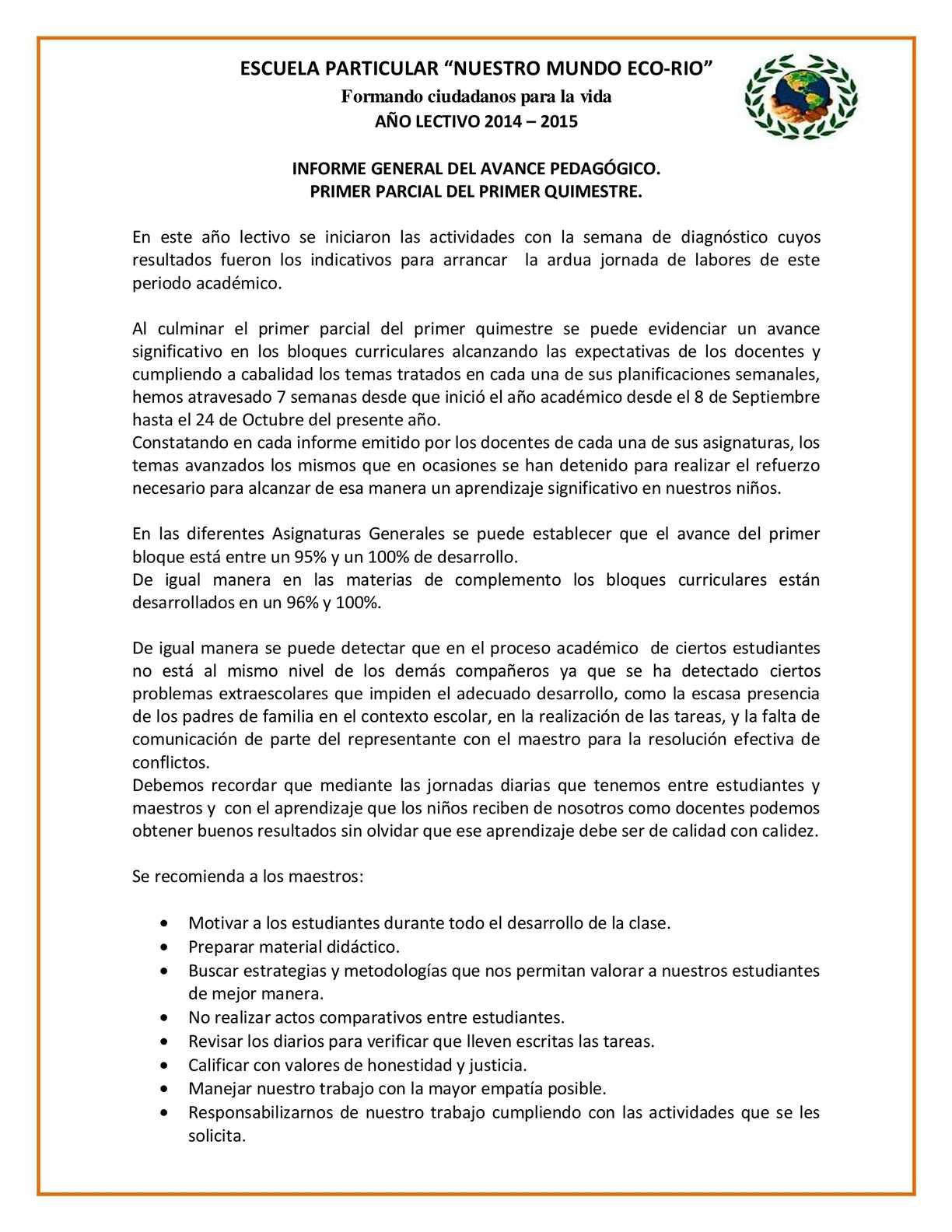 Calam o informe general del avance pedag gico pdf for Curriculum de nivel inicial