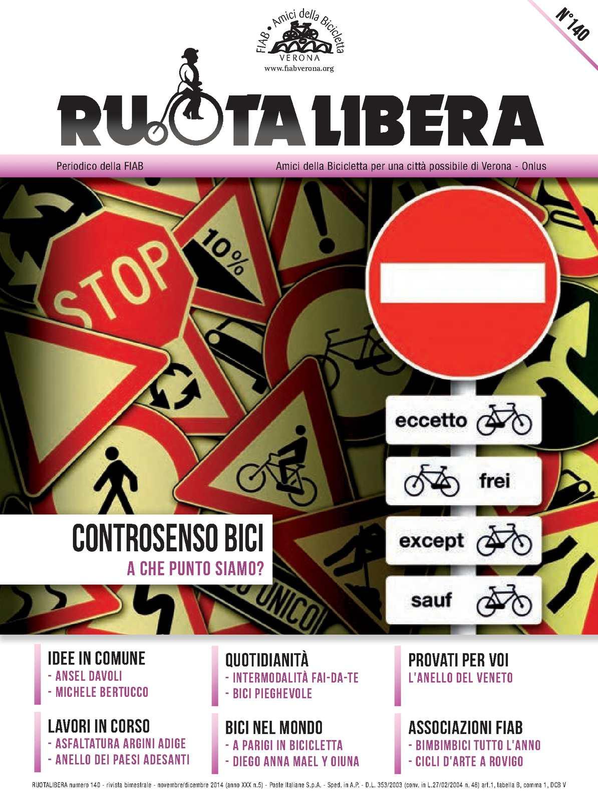 Ruotalibera 140 (novembre/dicembre 2014) - FIAB Verona - AdB