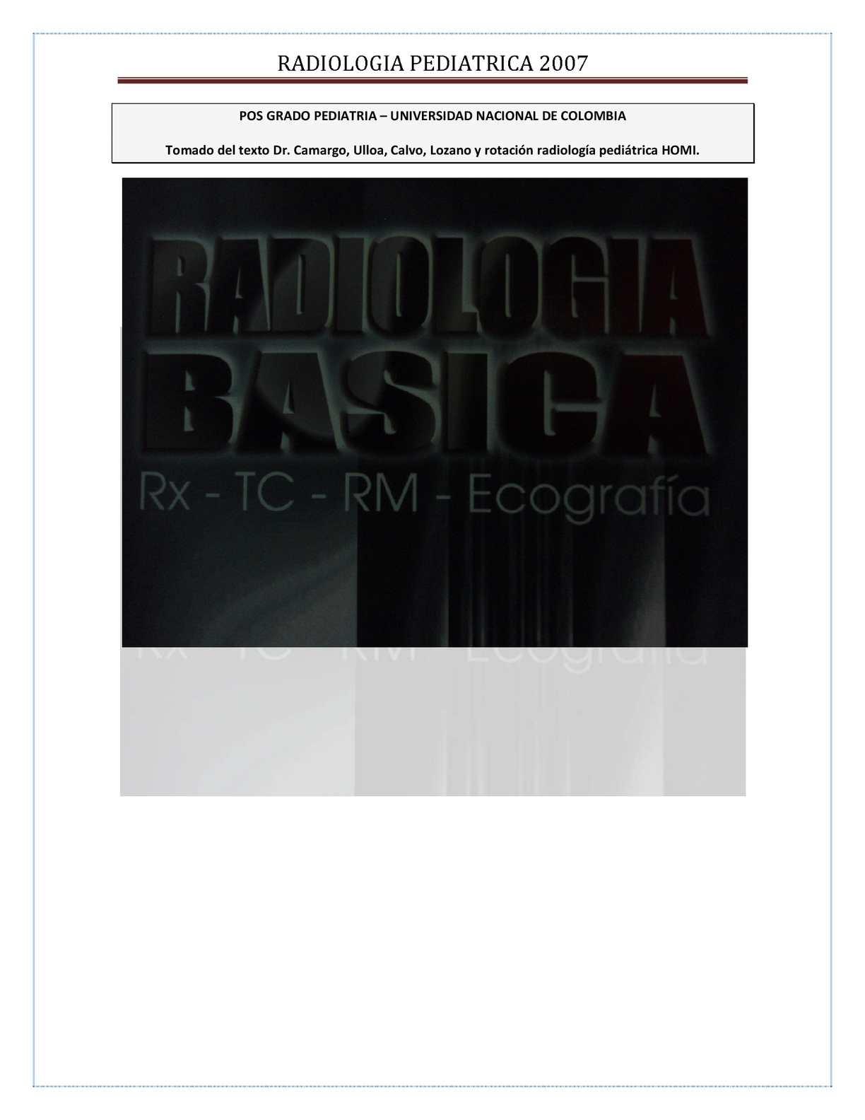 Calaméo - Radiologia Pediatrica