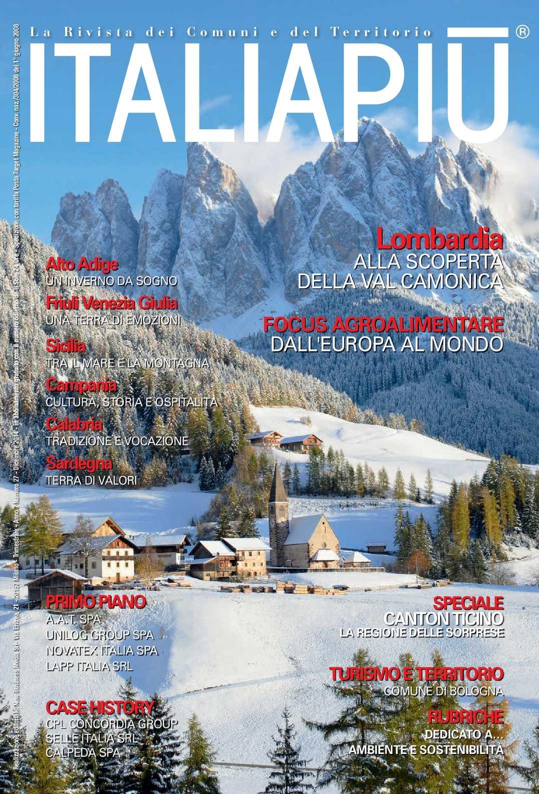 Calam o italia piu 39 numero di dicembre 2014 for Numero senatori e deputati in italia