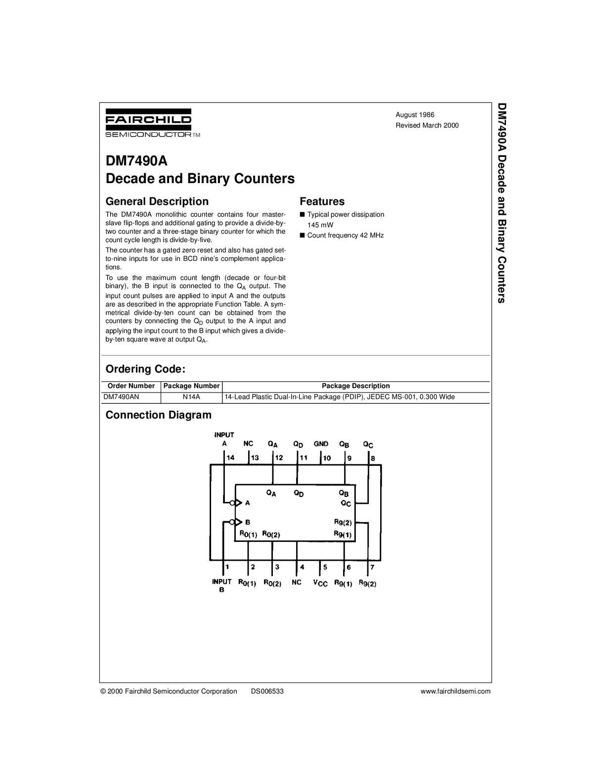 Calamo Datasheet 74ls90 Binary Counter Circuit