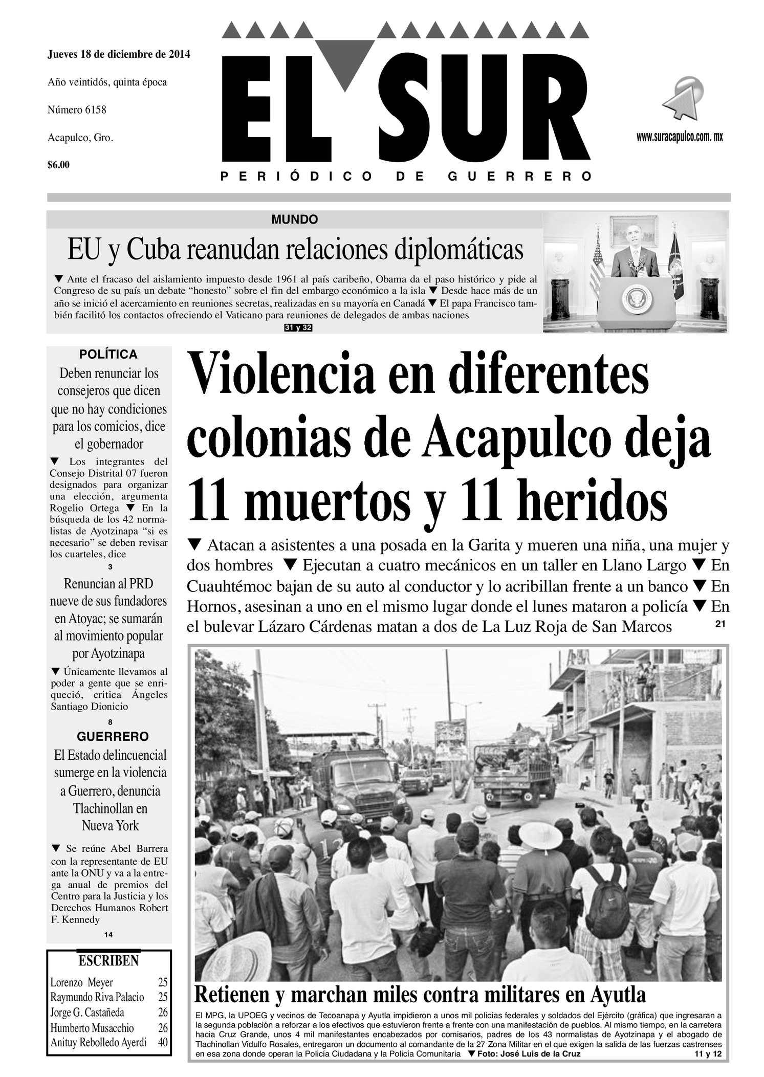 Calaméo - El Sur Jueves 18122014