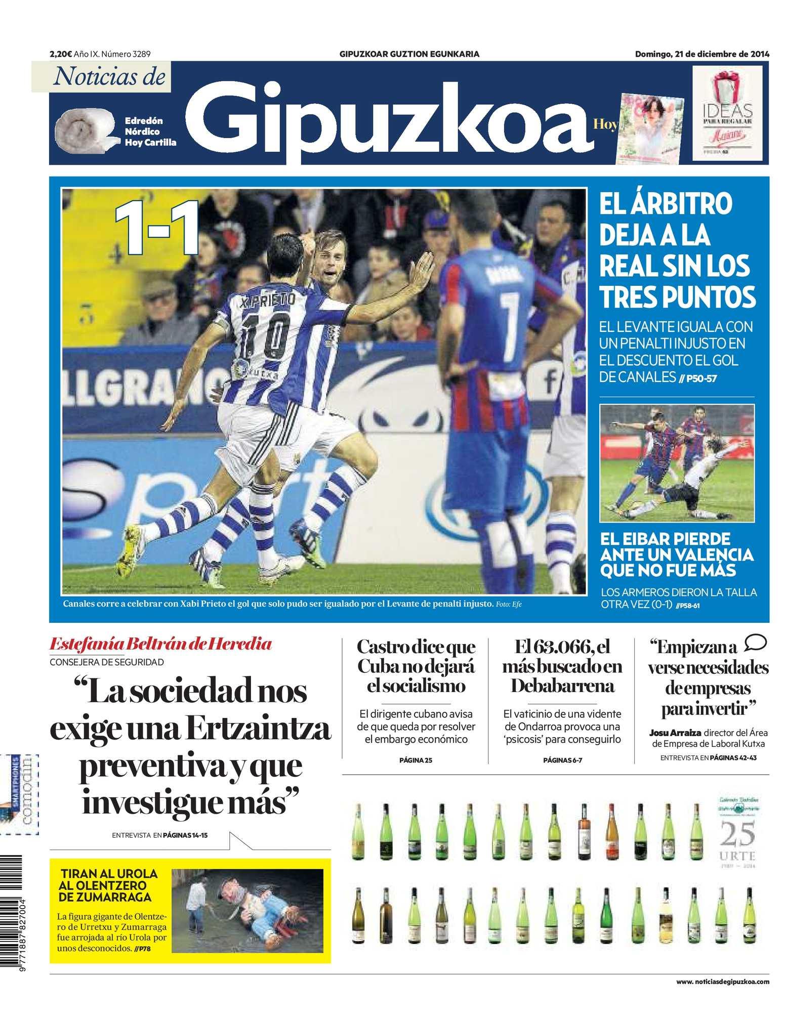 Calaméo - Noticias de Gipuzkoa 20141221