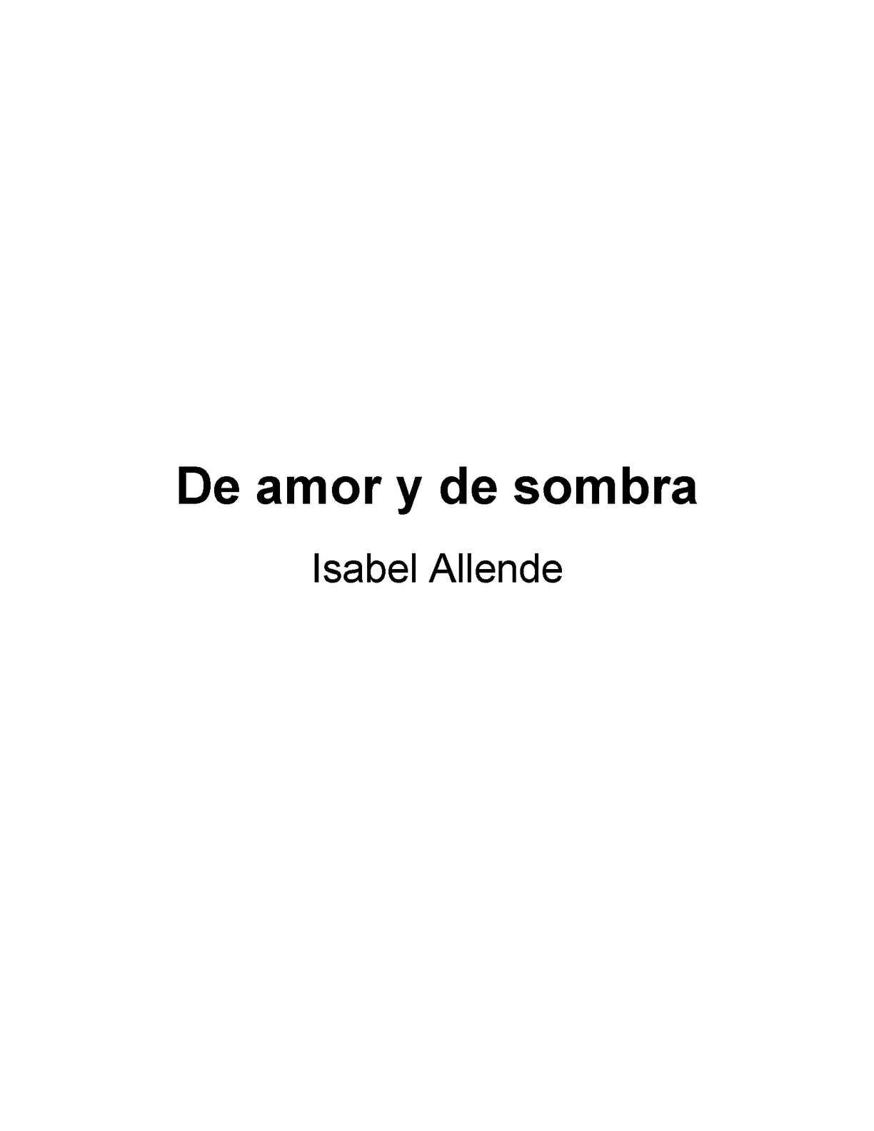Calaméo - Isabel Allende. De Amor Y De Muerte