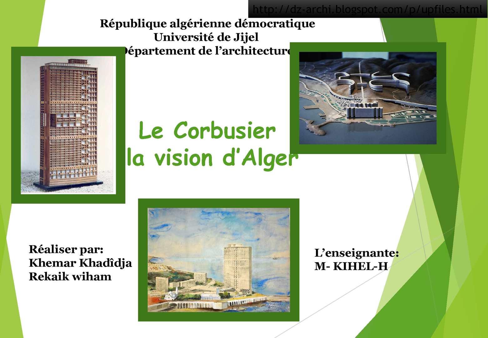 Le Corbusier La Vision D'alger