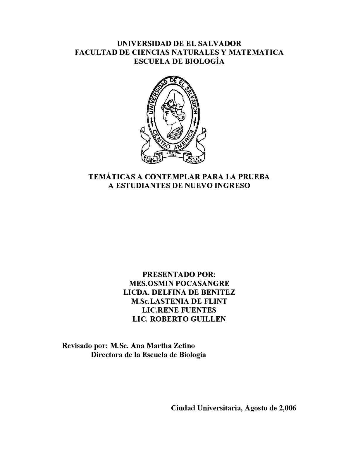 Calaméo - Módulo de Biología de la Universidad de El Salvador