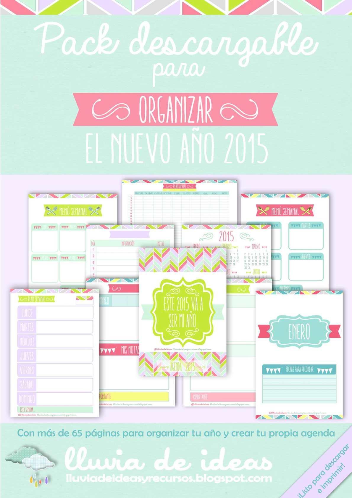 Pack Descargable para organizar el nuevo año 2015