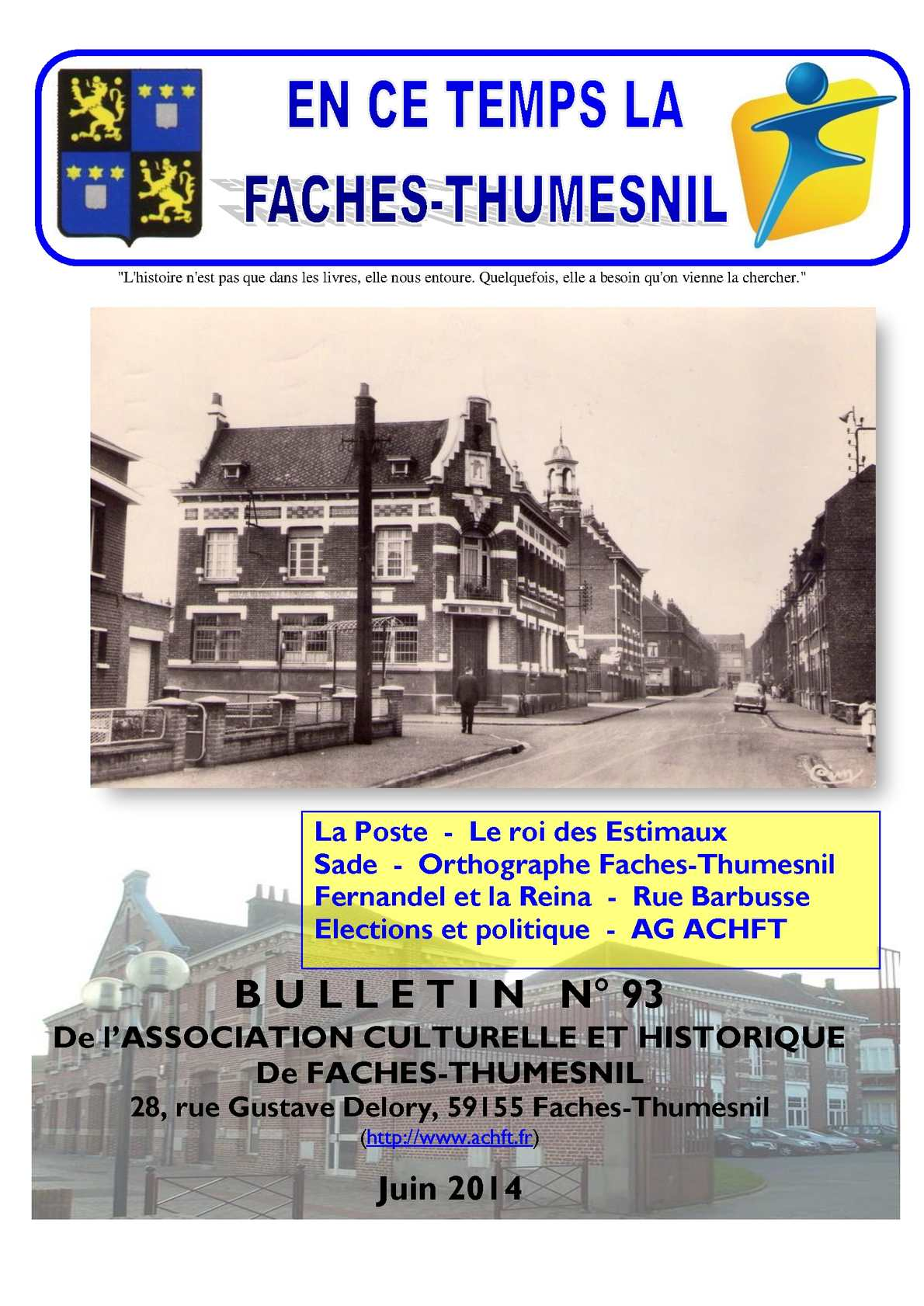 Calam o bulletin de l 39 association culturelle et for Arcadim faches thumesnil