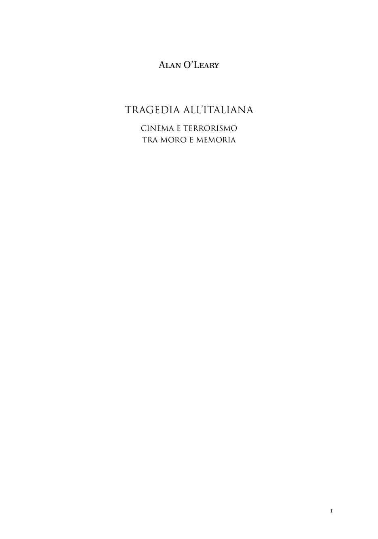 Tragedia all'italiana. Cinema e terrorismo tra Moro e Memoria