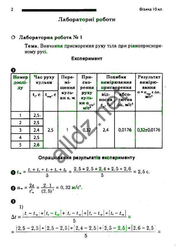 Зошит лабораторні Фізика 10 клас Божинова (Стандарт).