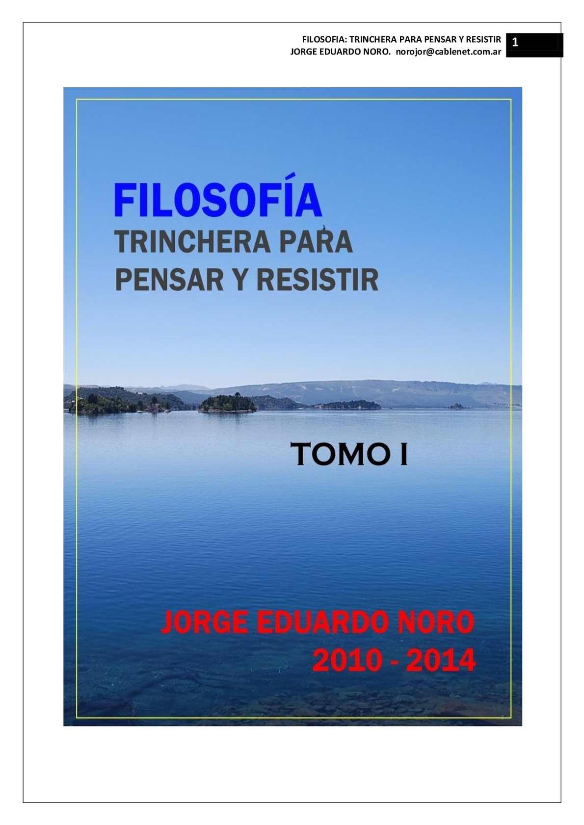 Calaméo - 187. FILOSOFIA: TRINCHERA PARA PENSAR Y PARA RESISTIR + TOMO I