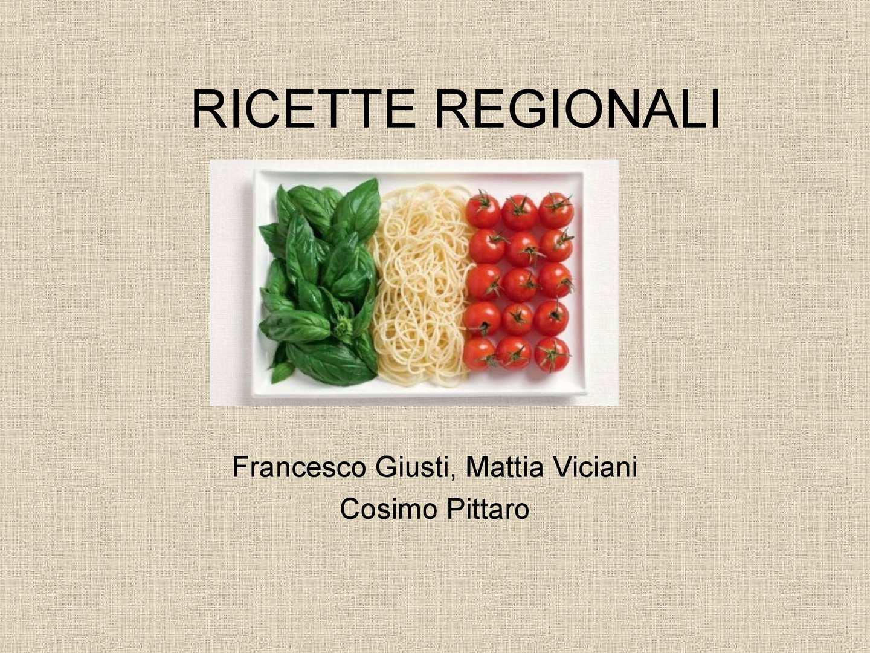 Calam o ricette regionali for Ricette regionali
