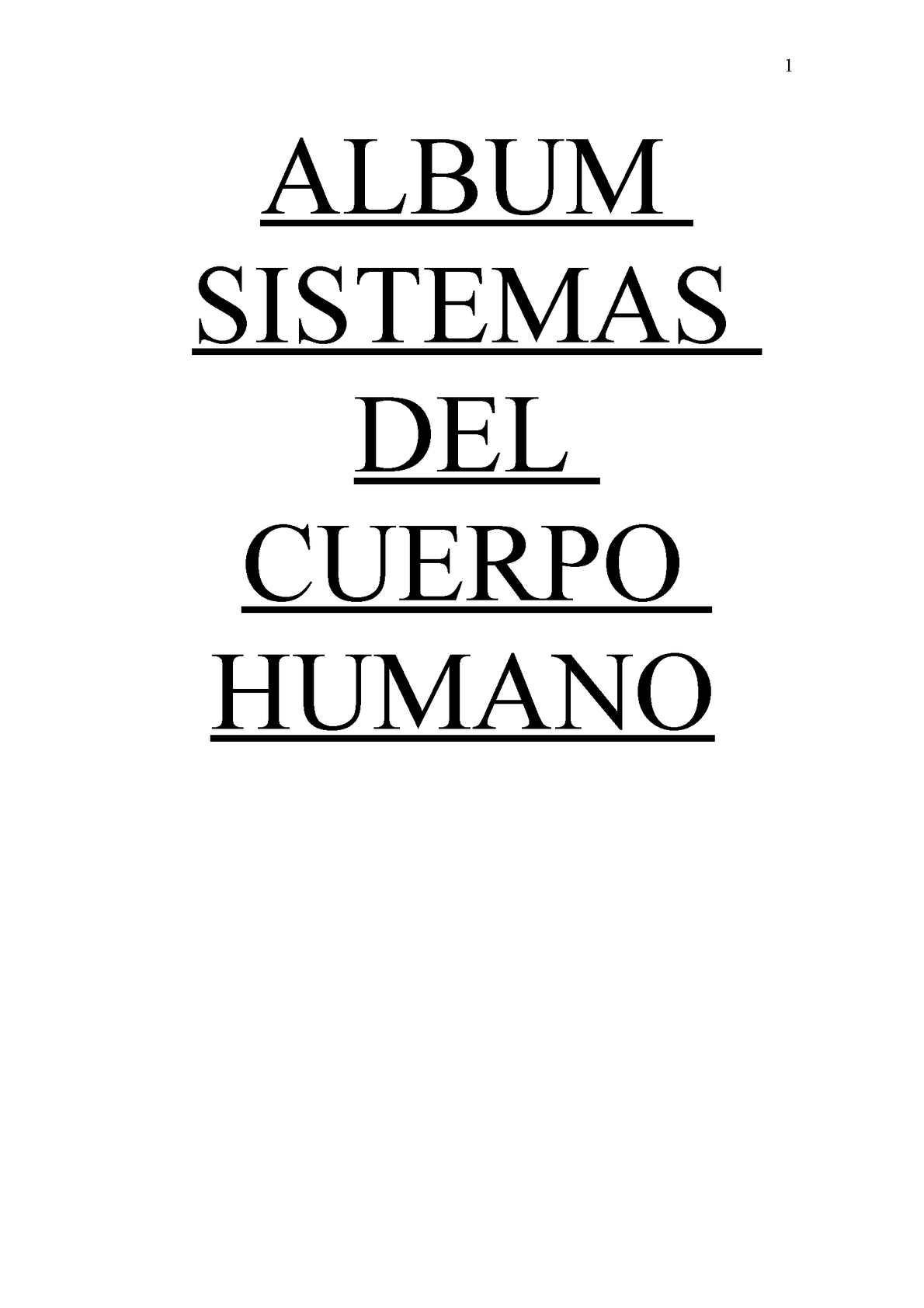 Calaméo - Album Sistemas Del Cuerpo Humano