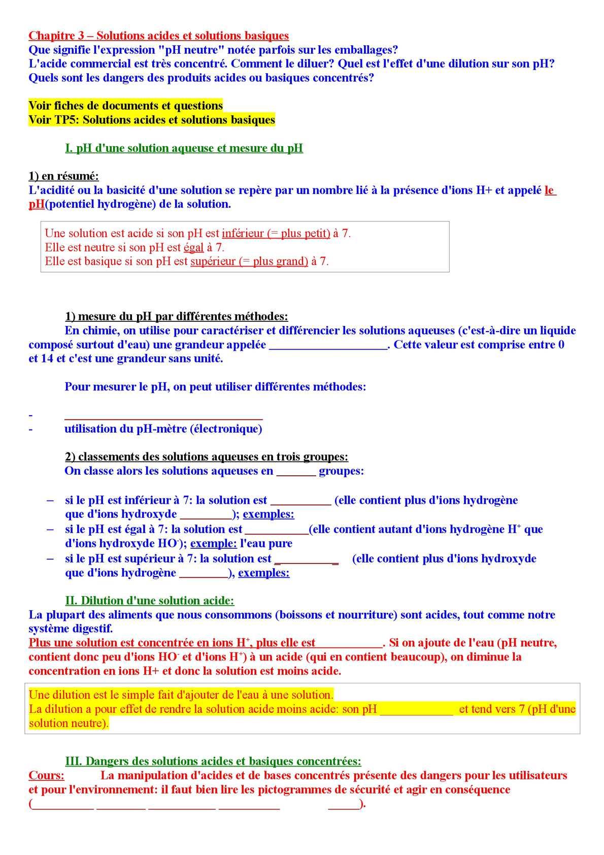 calam u00e9o - 3e - chapitre 3 - cours