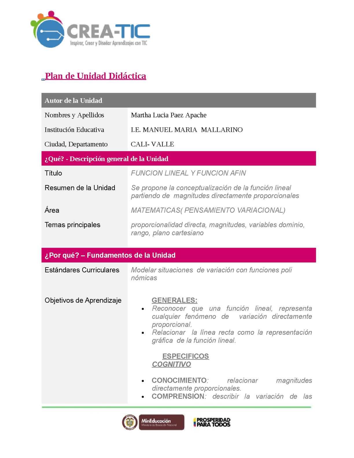 Calaméo - Plantilla Unidad Didactica Word 2